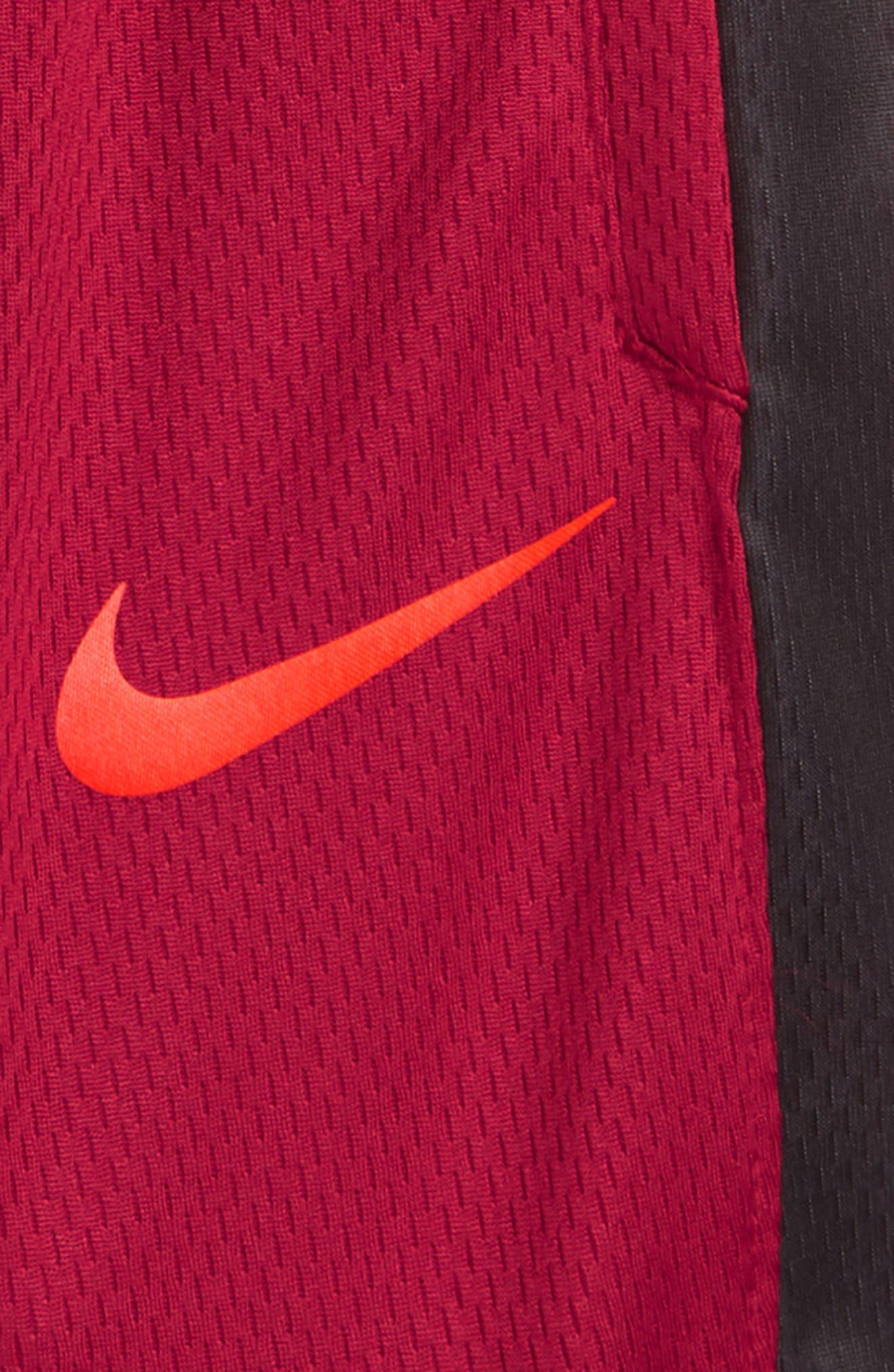 Elite Stripe Shorts,                             Alternate thumbnail 3, color,                             RED CRUSH