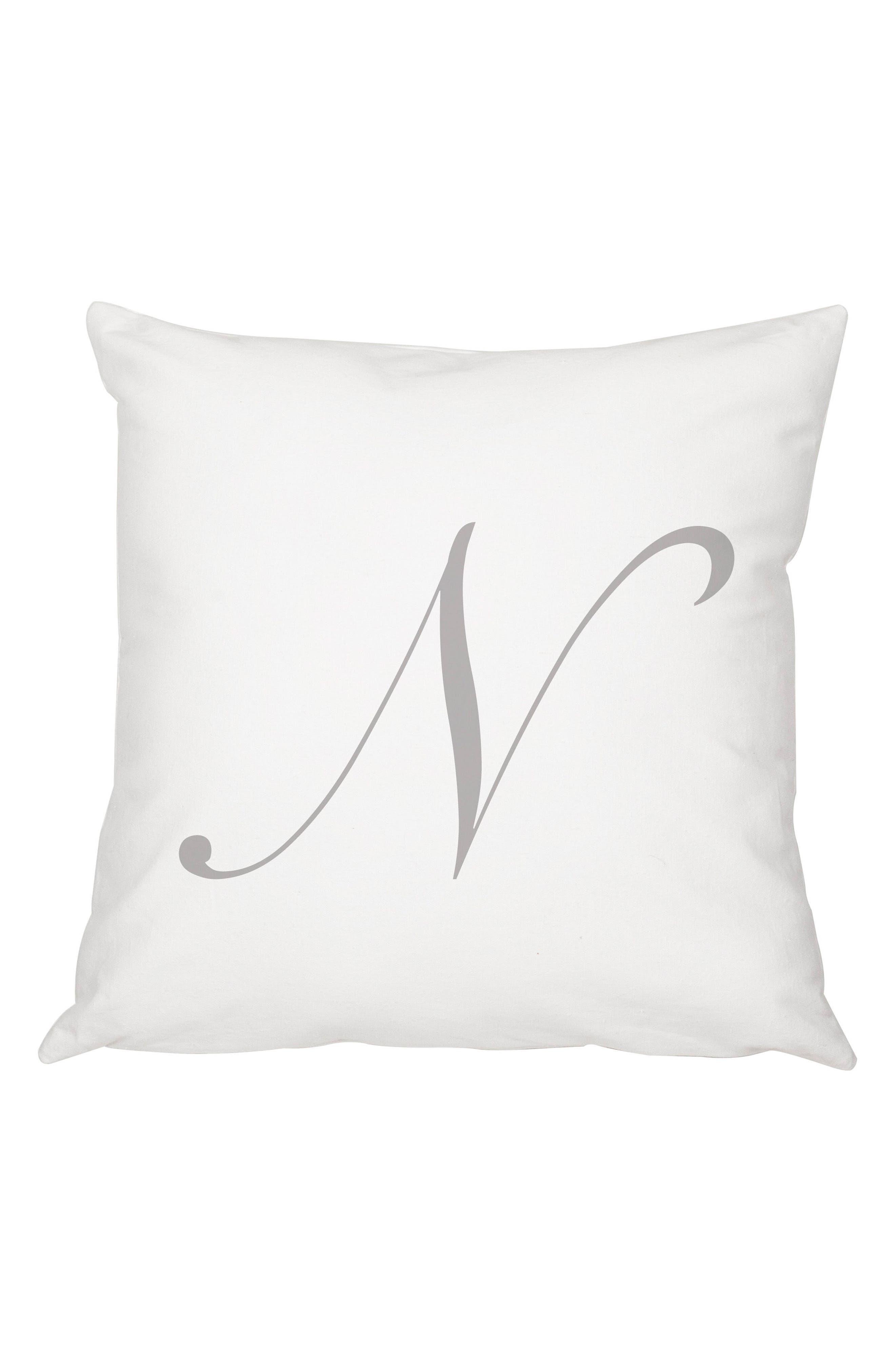 Script Monogram Accent Pillow,                             Main thumbnail 14, color,