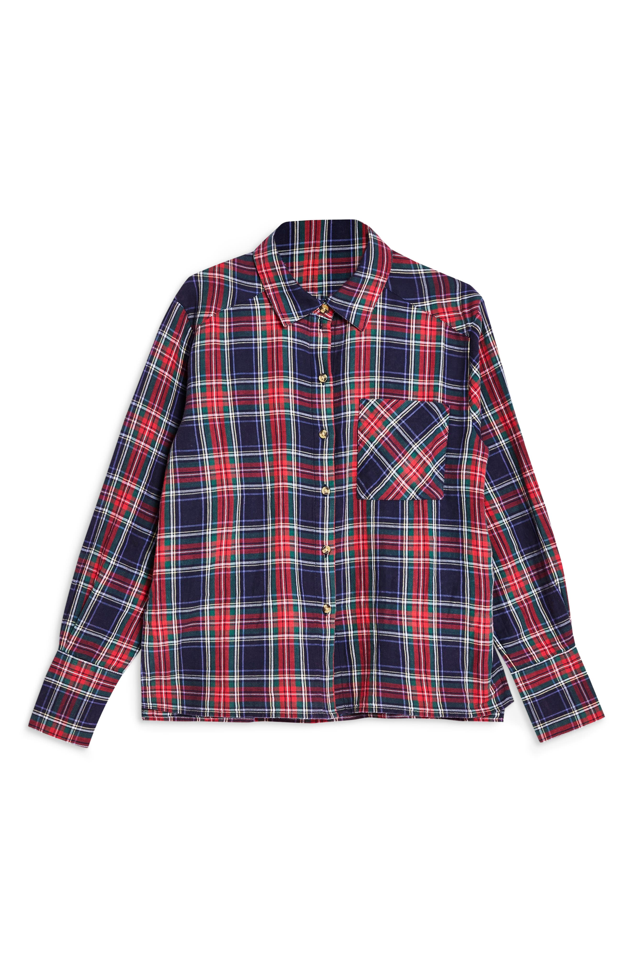 Pacey Washed Check Plaid Shirt,                             Alternate thumbnail 3, color,                             NAVY BLUE MULTI