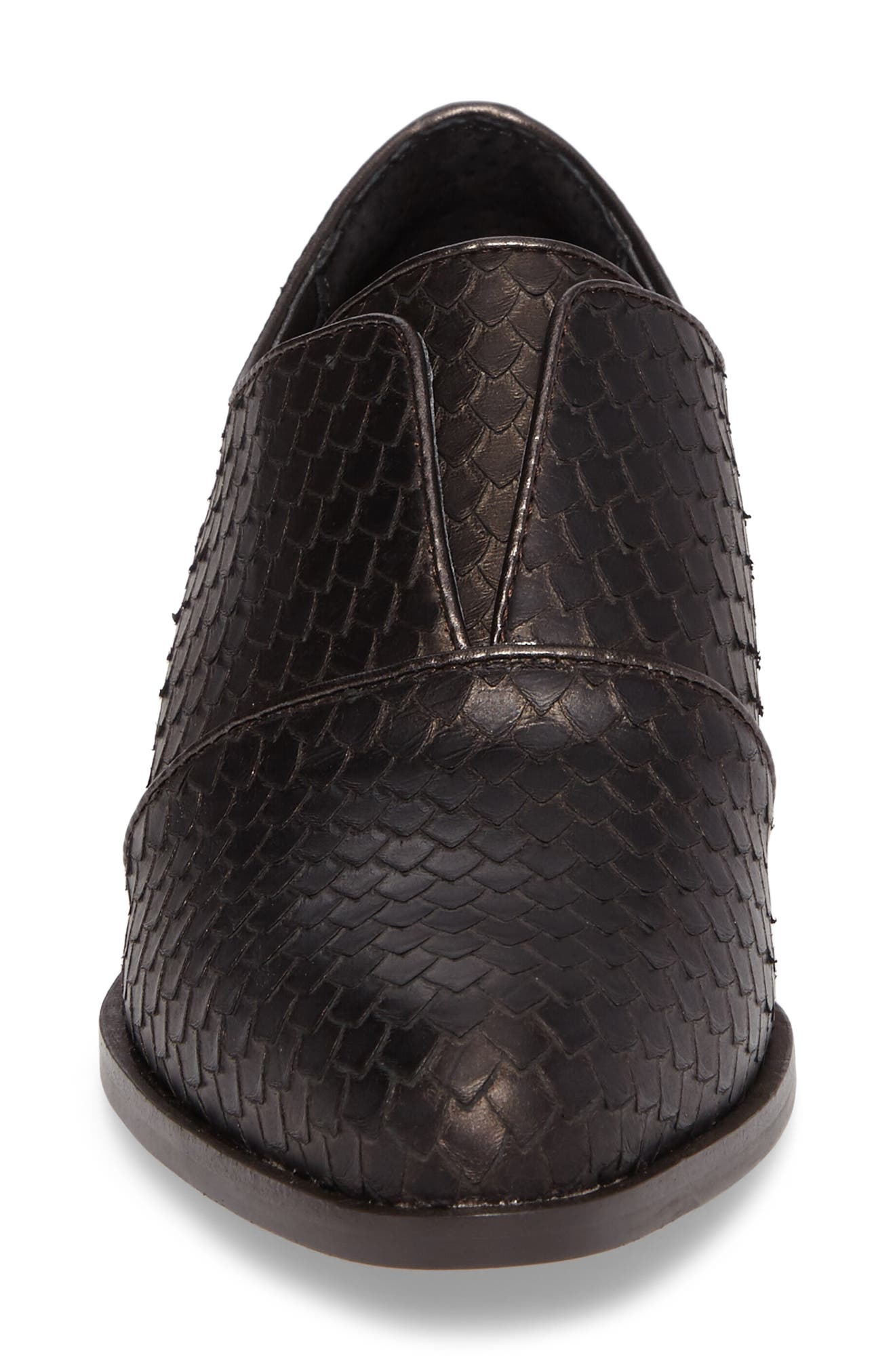 Isola Maria Slip-On Oxford,                             Alternate thumbnail 4, color,                             T. MORO BROWN LEATHER