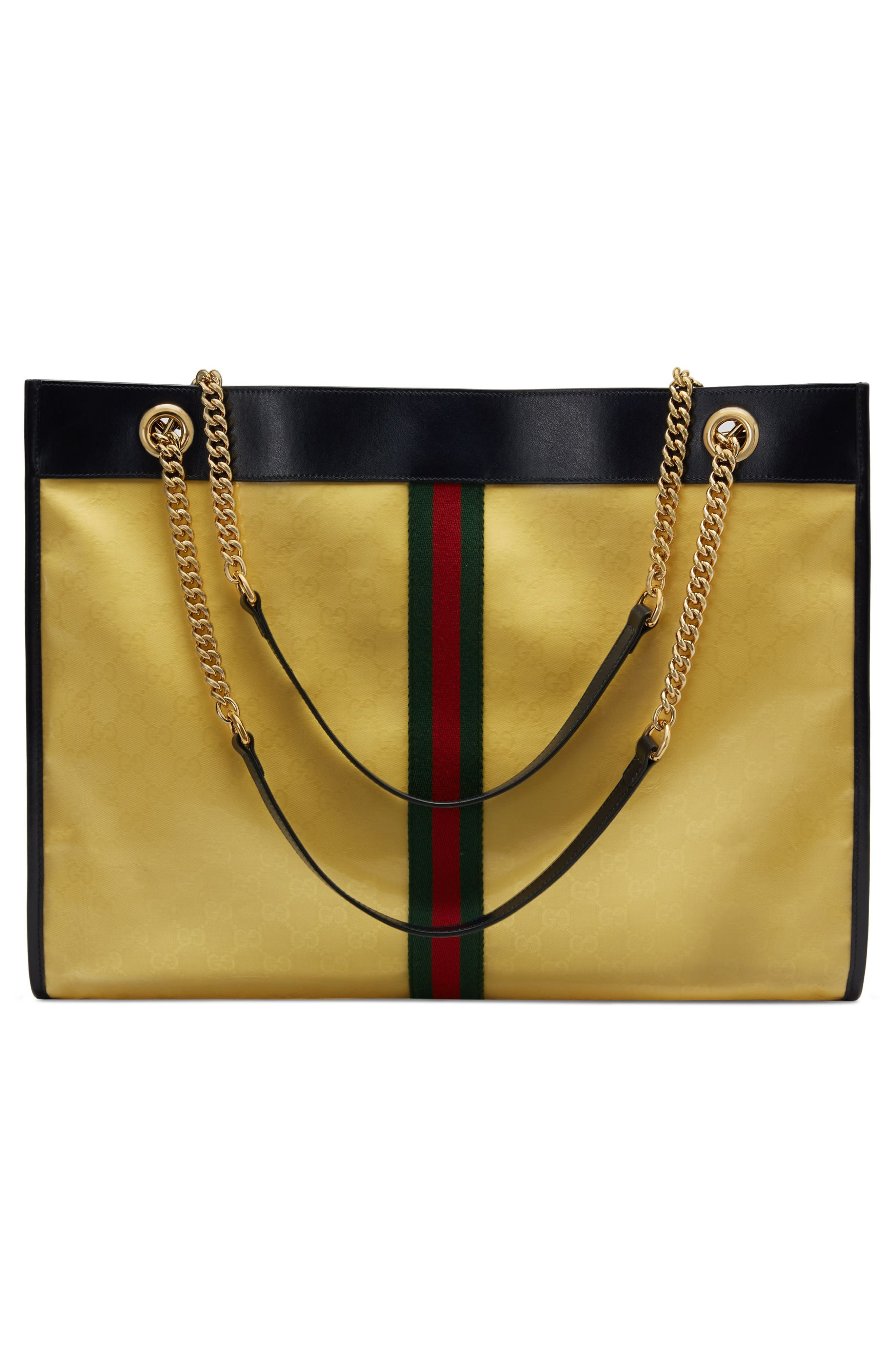 Rajah GG Supreme Canvas Tote,                             Alternate thumbnail 2, color,                             YELLOW/ BLACK/ BLUE/ RED
