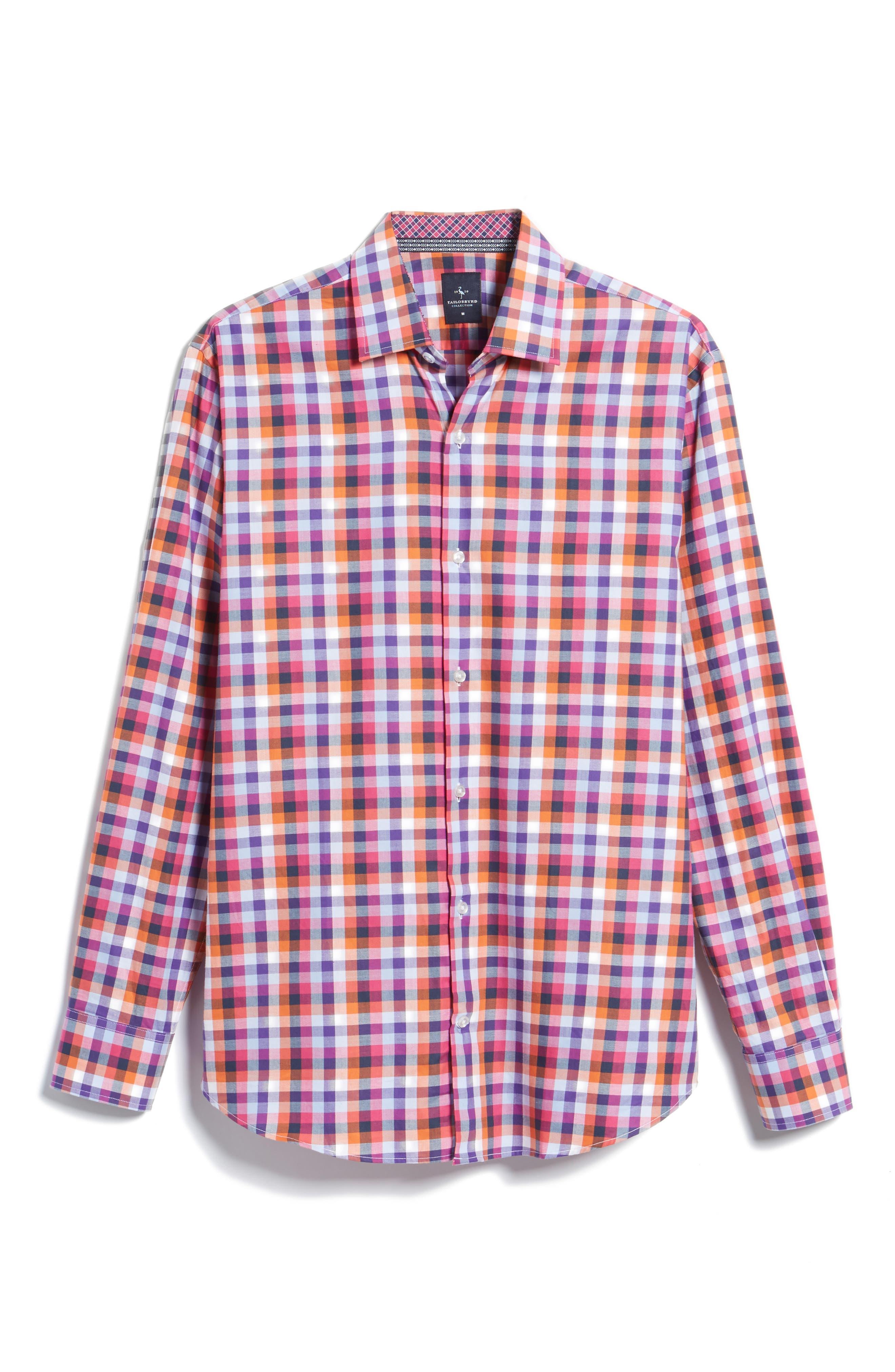 Baker Check Sport Shirt,                             Alternate thumbnail 6, color,                             410