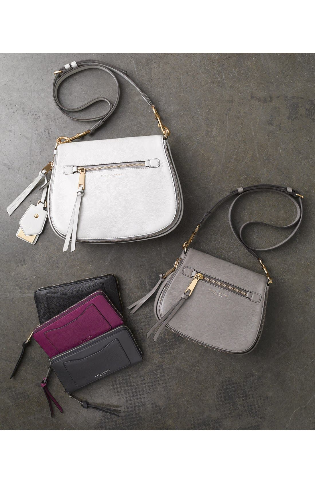 Small Recruit Nomad Pebbled Leather Crossbody Bag,                             Alternate thumbnail 19, color,