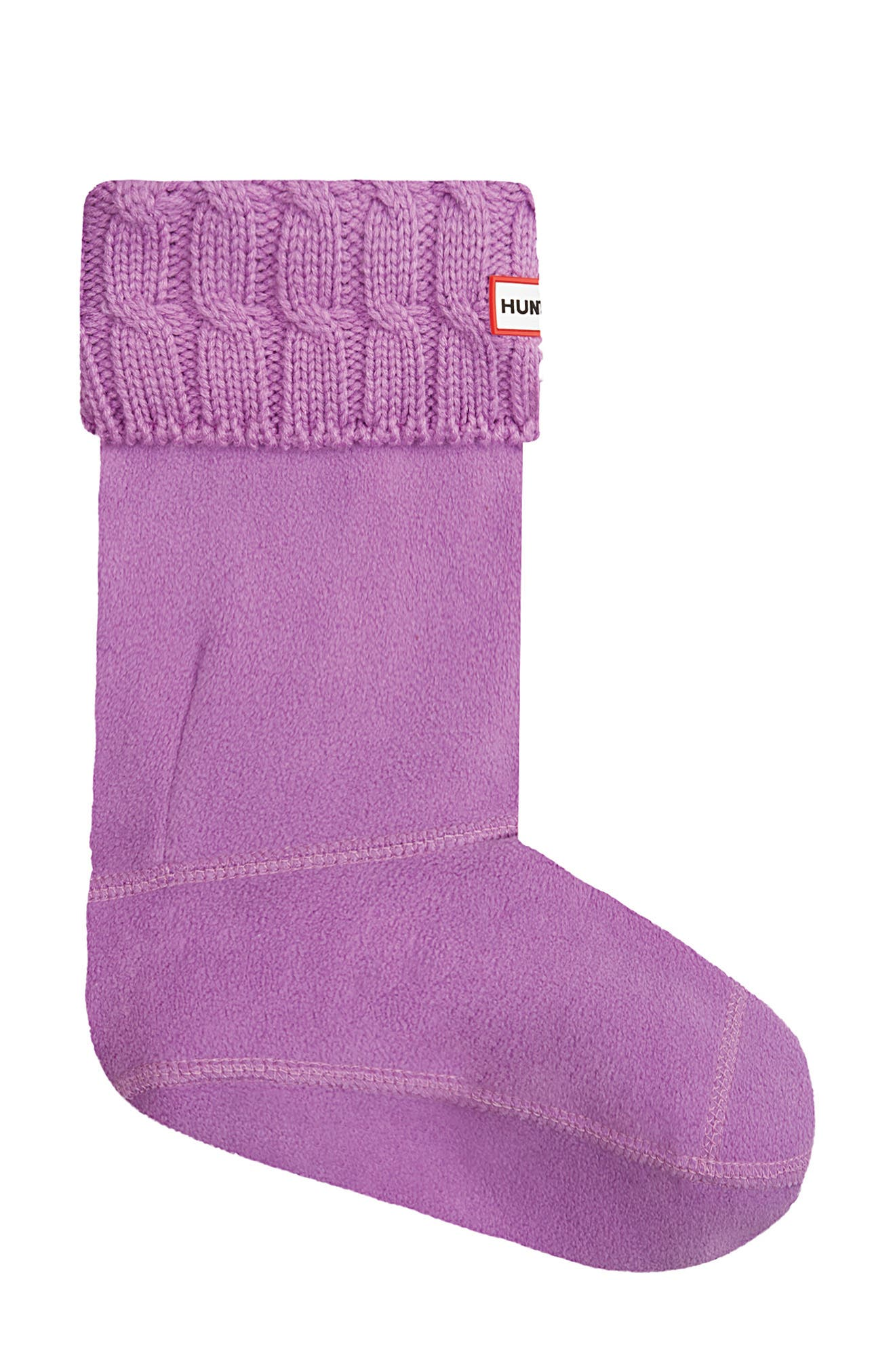 Original Short Cable Knit Cuff Welly Boot Socks,                             Main thumbnail 1, color,                             THISTLE