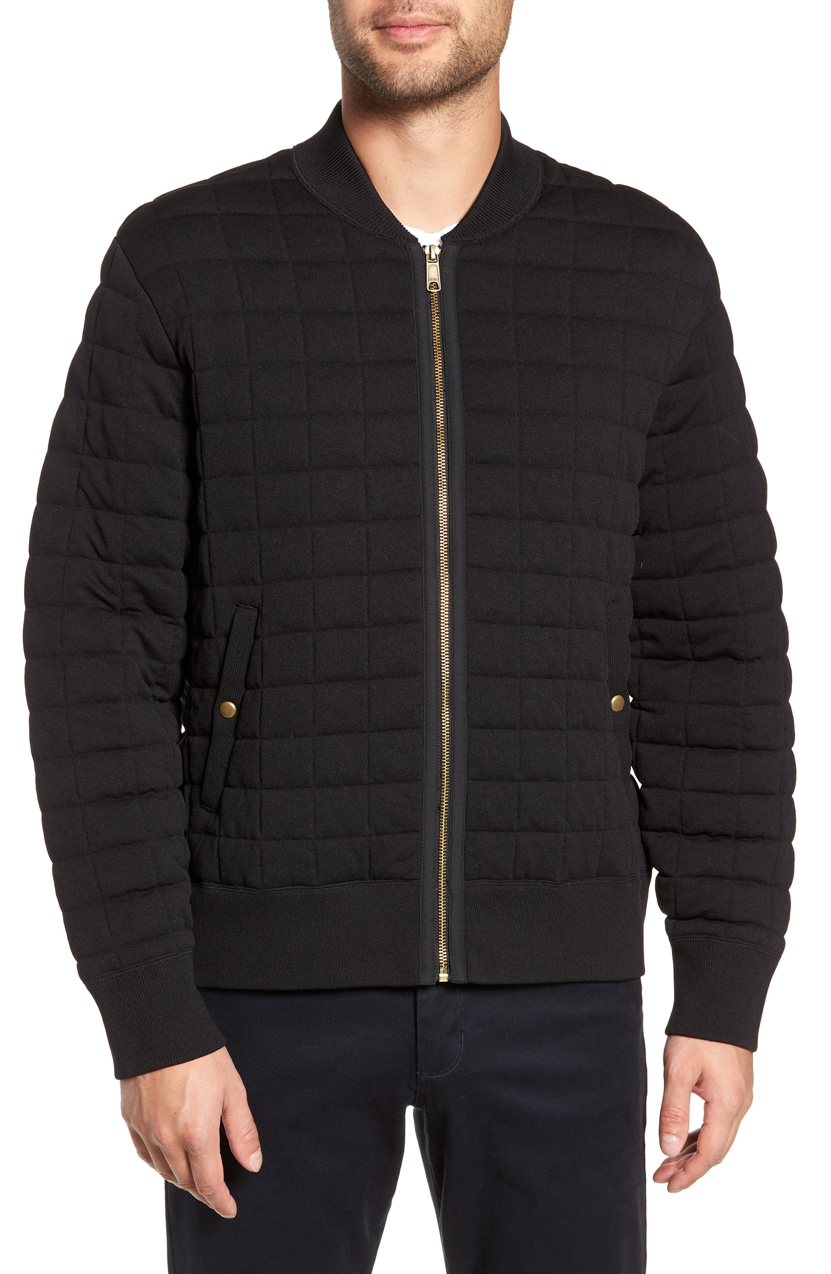 Quilted Bomber Jacket,                             Alternate thumbnail 4, color,                             001