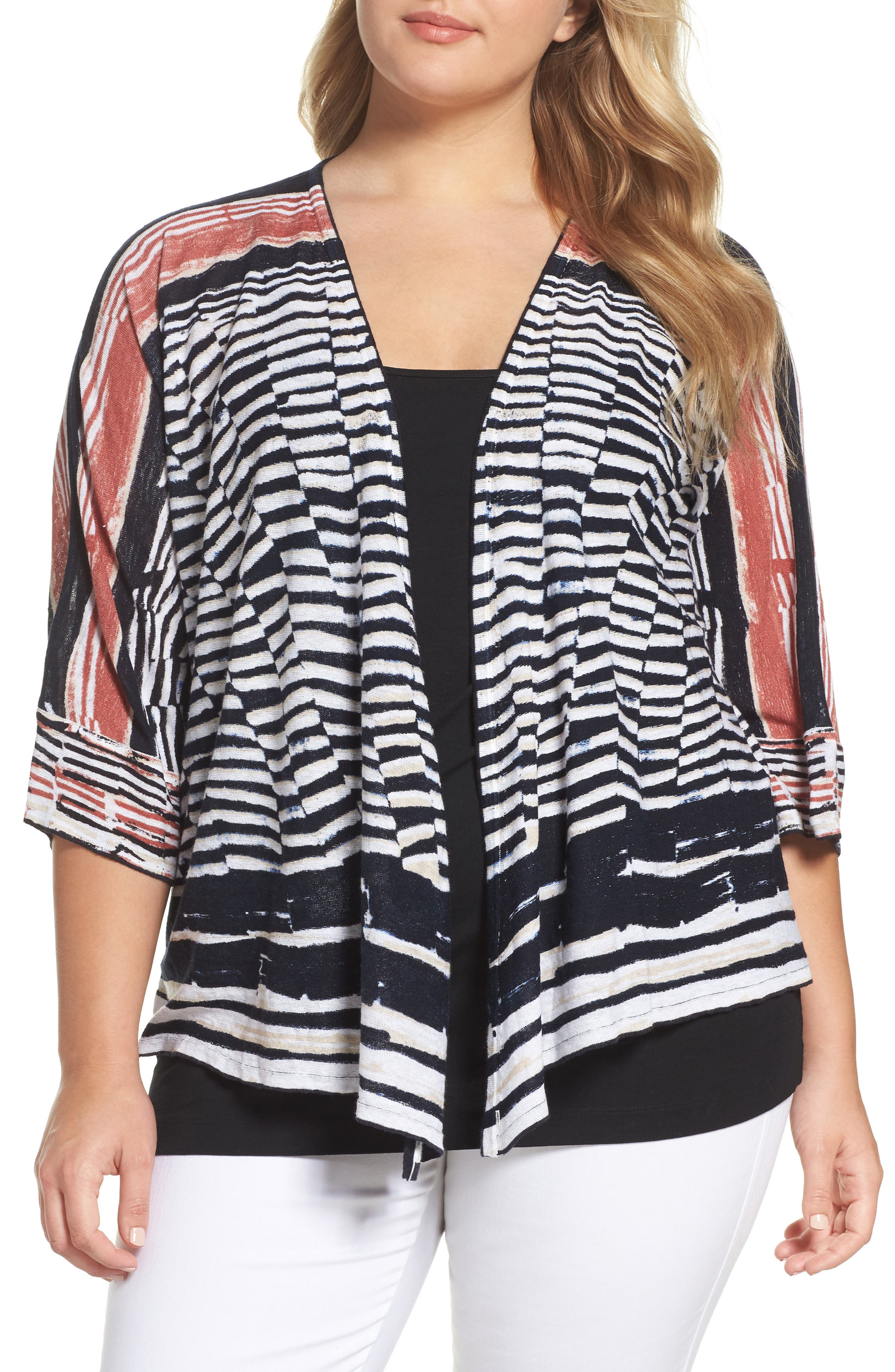 Print Four-Way Cardigan,                             Main thumbnail 1, color,                             MULTI