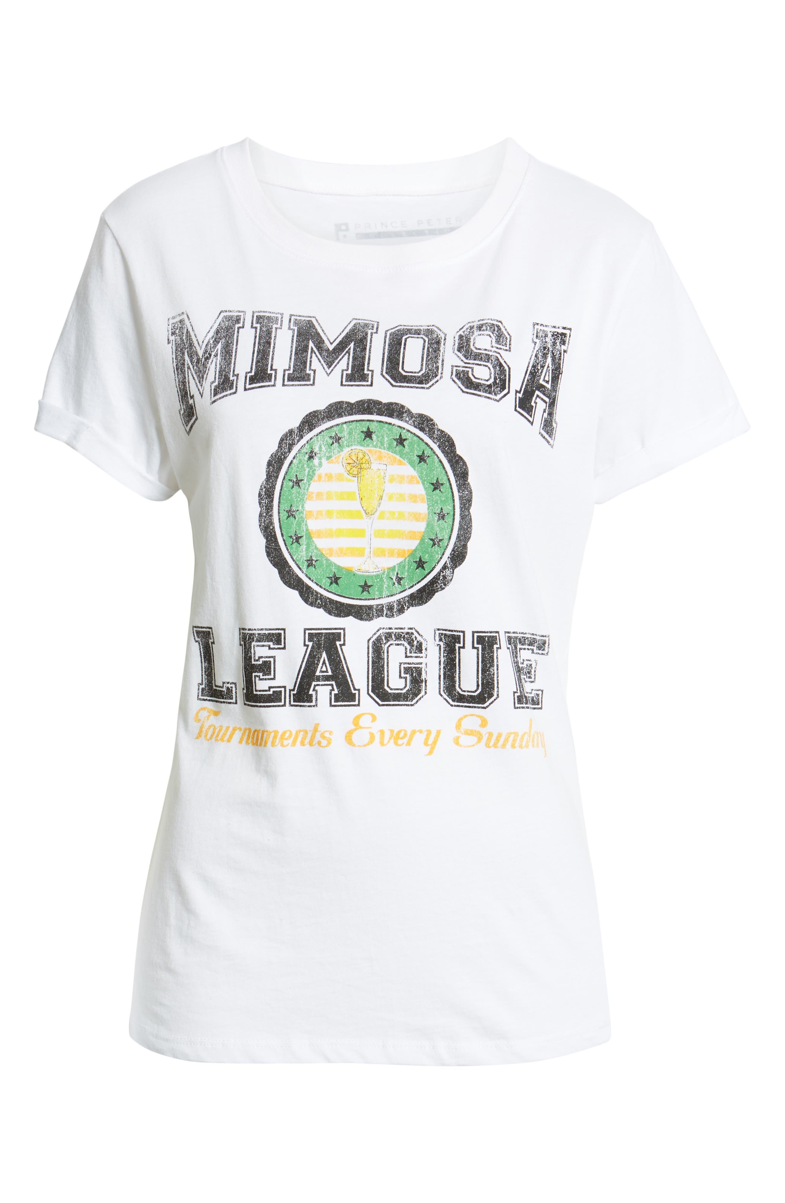 PRINCE PETER,                             Mimosa League Tee,                             Alternate thumbnail 6, color,                             WHITE