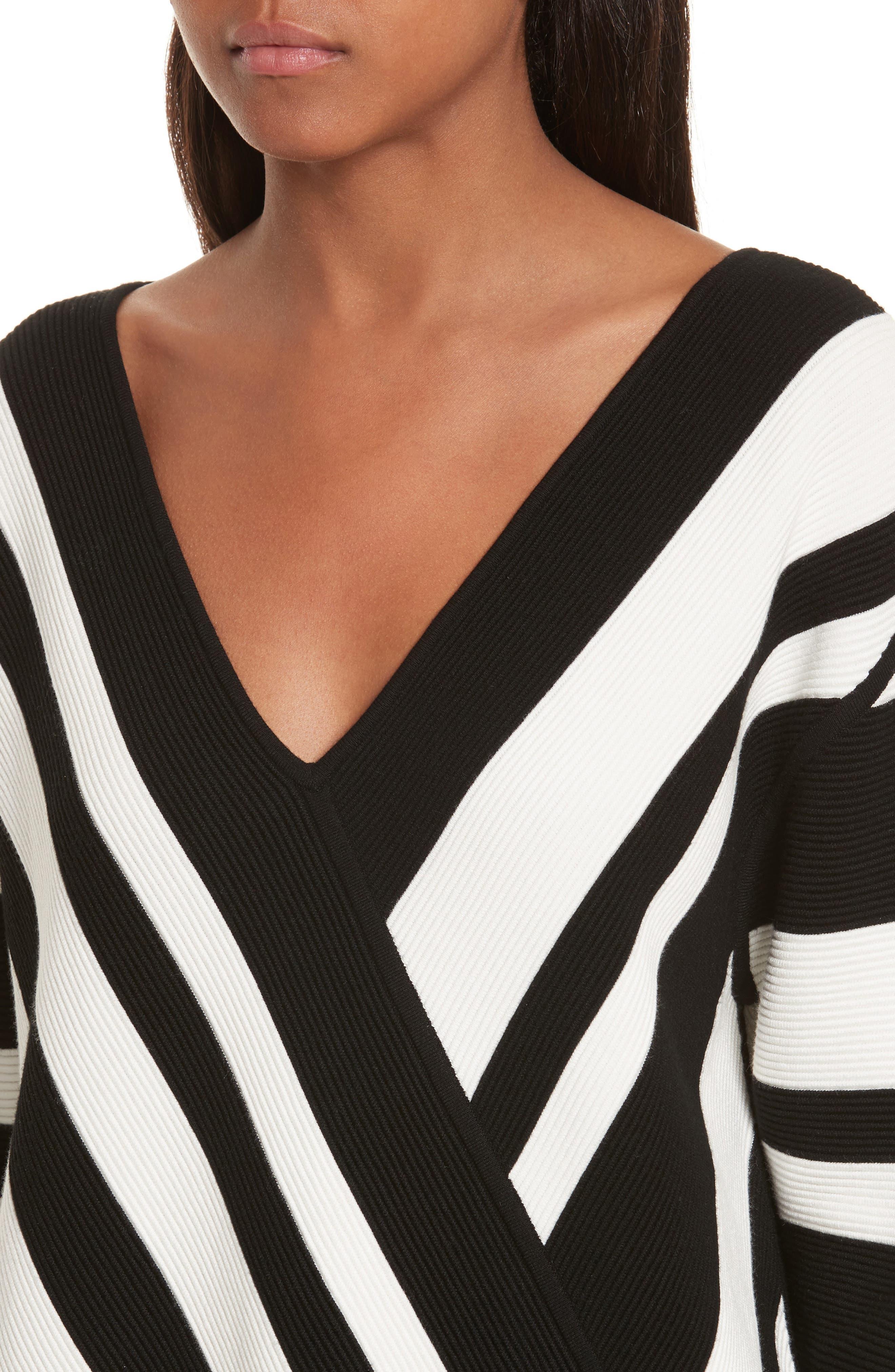 Stripe Knit Sweater,                             Alternate thumbnail 4, color,                             005
