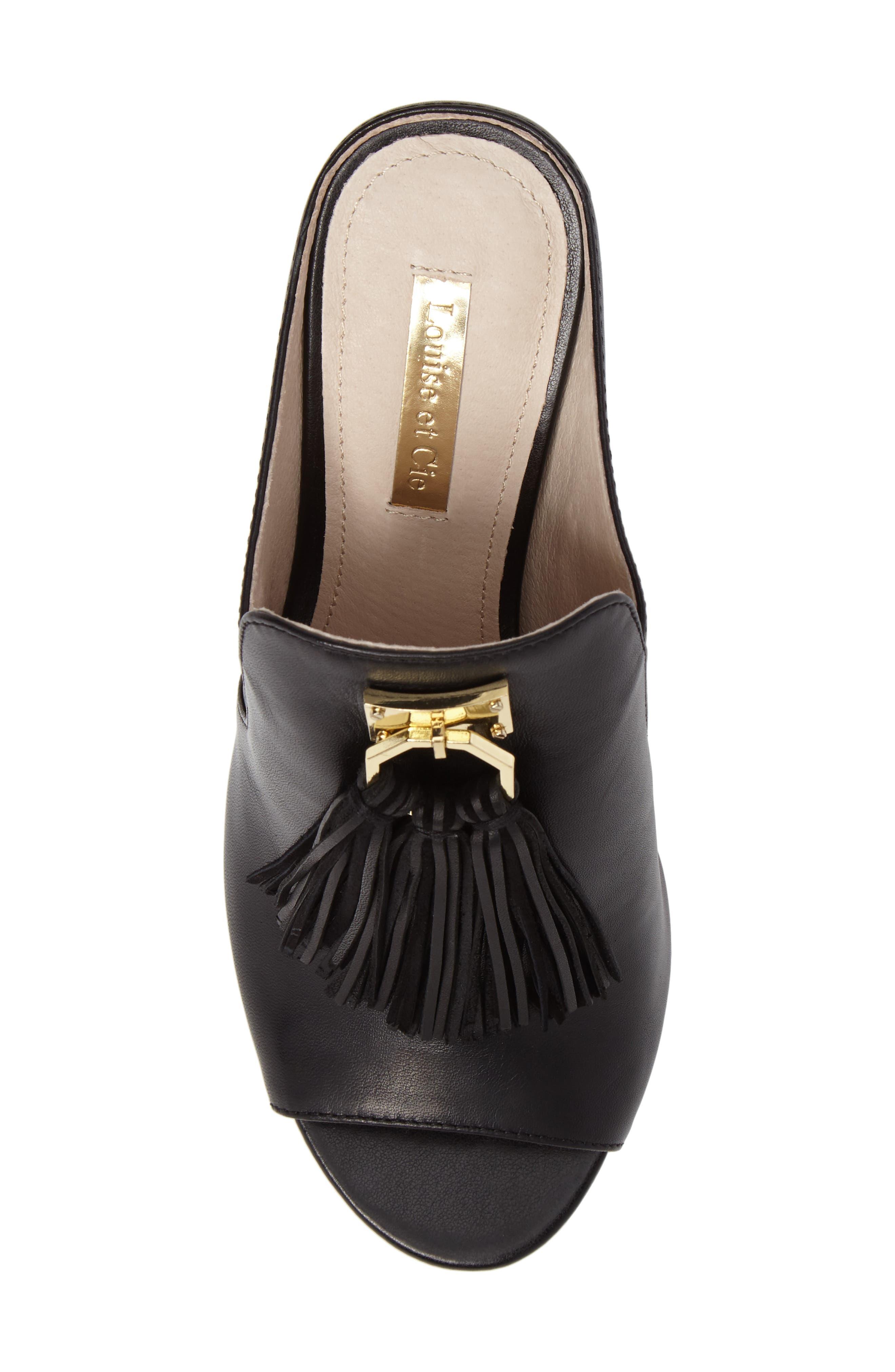 Kemi Block Heel Sandal,                             Alternate thumbnail 5, color,                             001