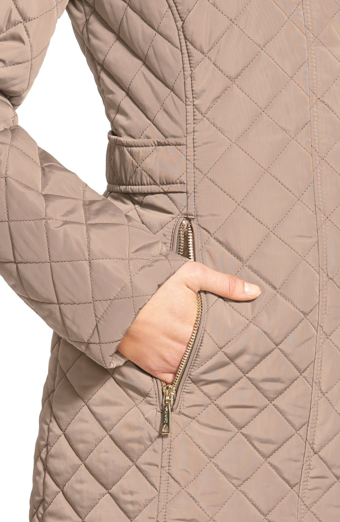 Hooded Quilted Jacket,                             Alternate thumbnail 41, color,
