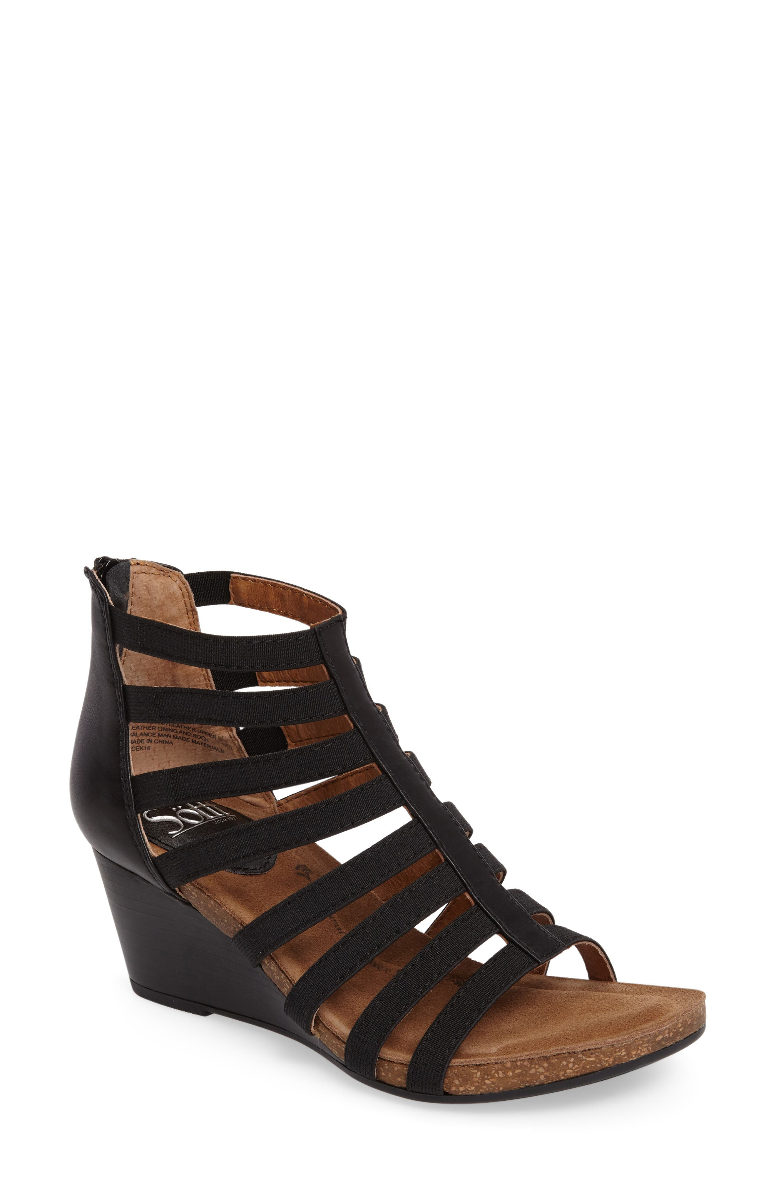 Mati Caged Wedge Sandal,                         Main,                         color,