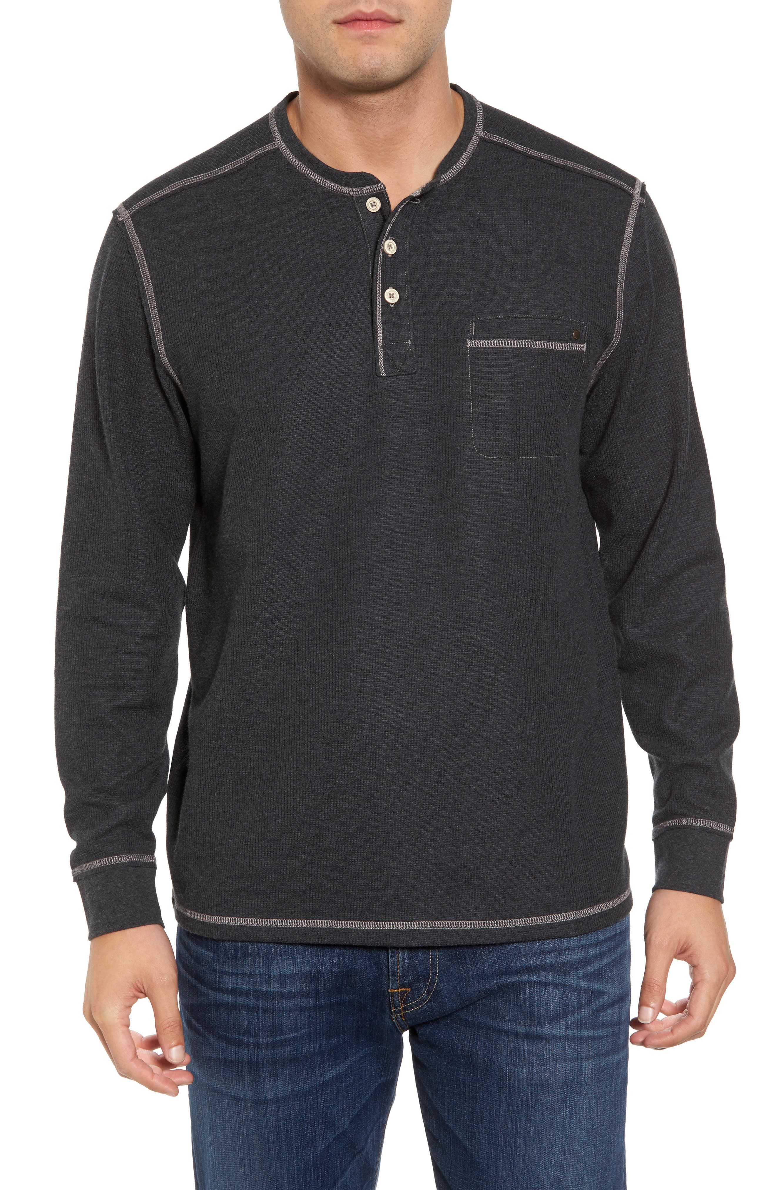 Island Thermal Standard Fit Thermal Henley,                         Main,                         color, 050