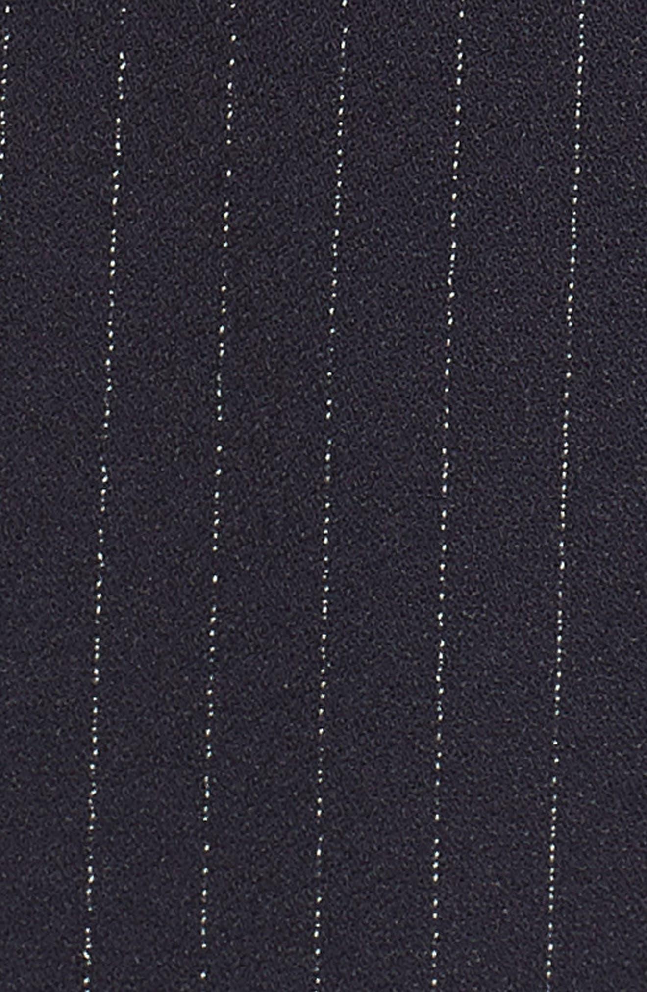 Sleeveless Pinstripe Crepe Jumpsuit,                             Alternate thumbnail 6, color,                             NAVY/ IVORY