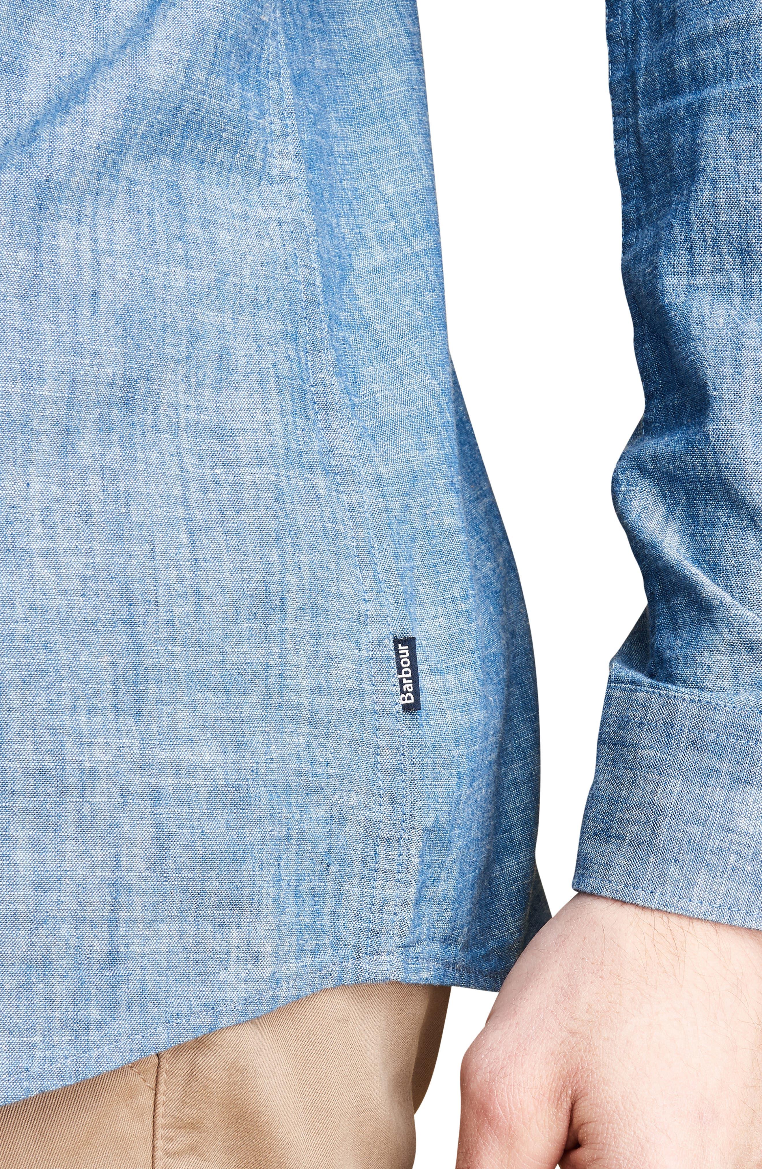 Highfield Chambray Shirt,                             Alternate thumbnail 6, color,                             INDIGO