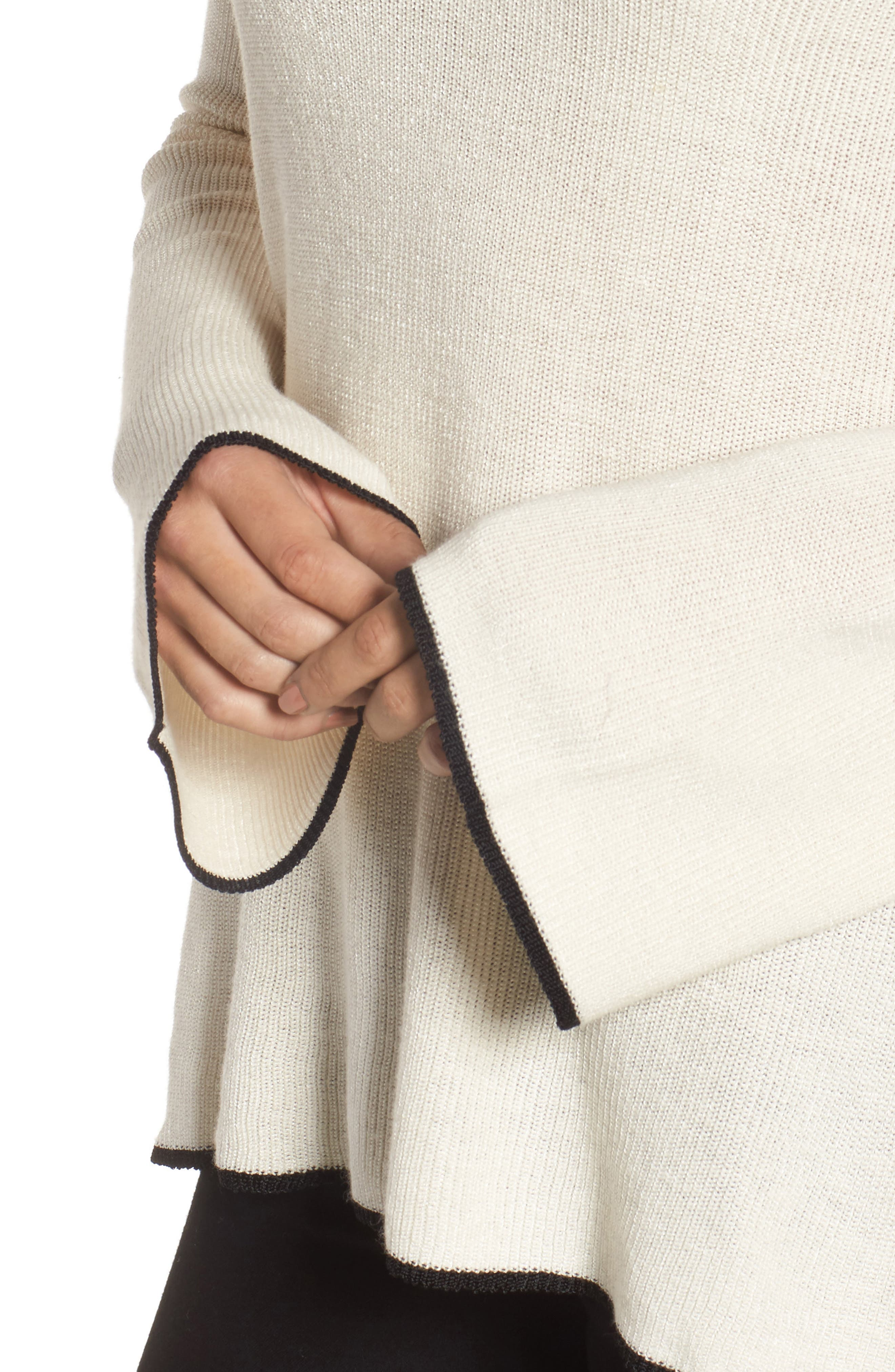 Tipped Bell Sleeve Sweater,                             Alternate thumbnail 25, color,
