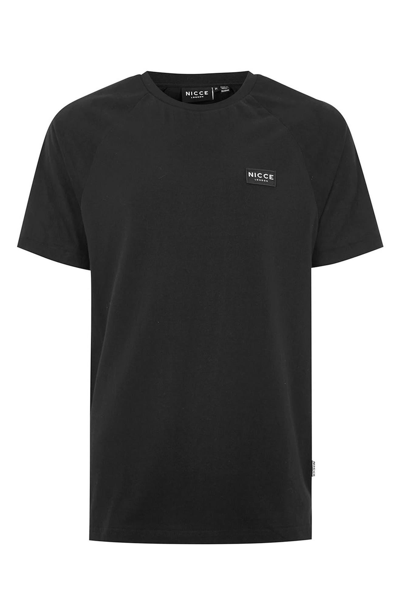 Slim Fit NICCE Logo Patch T-Shirt,                             Alternate thumbnail 4, color,                             001