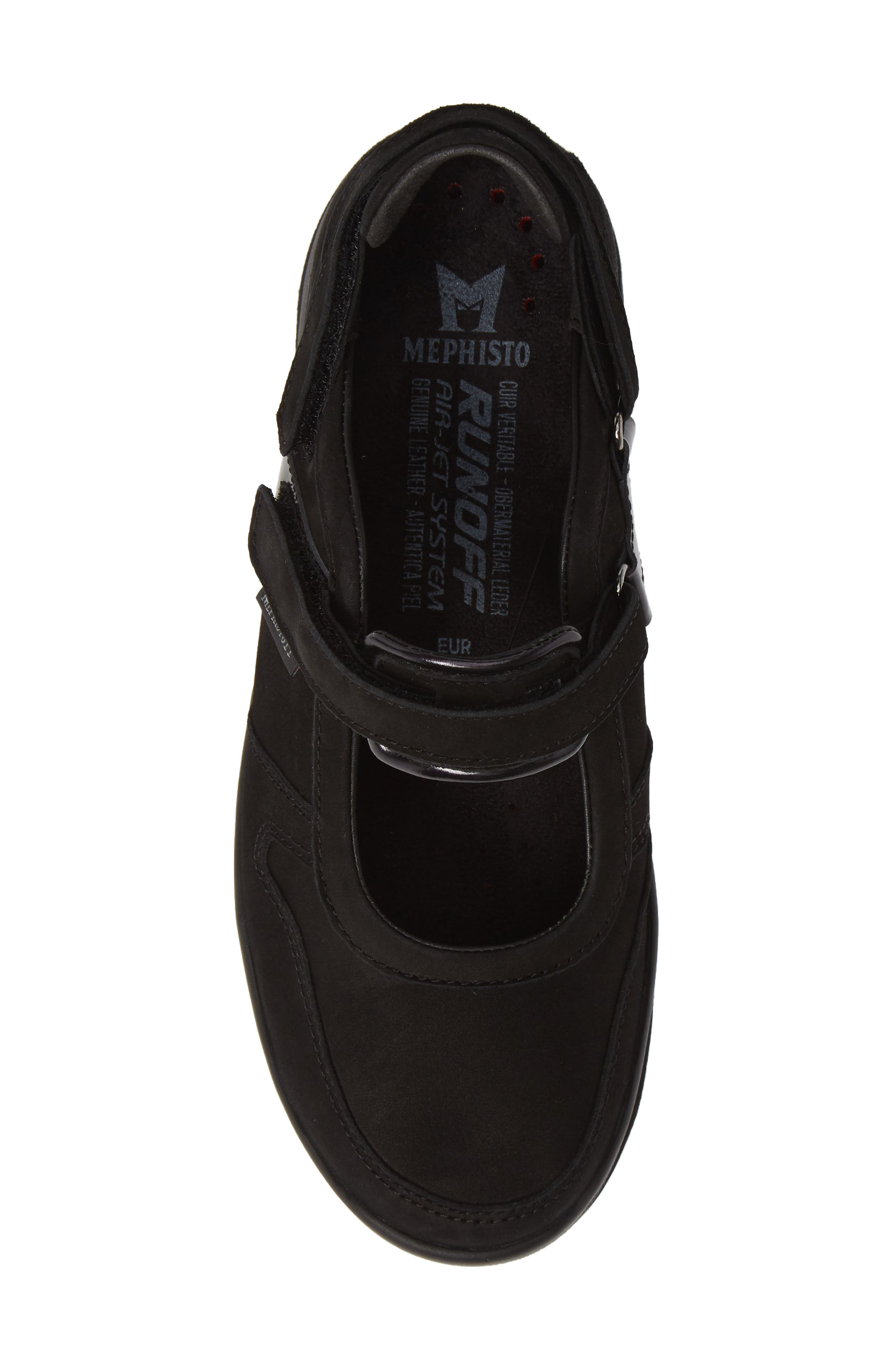 MEPHISTO,                             Rejine Sneaker,                             Alternate thumbnail 5, color,                             BLACK FABRIC