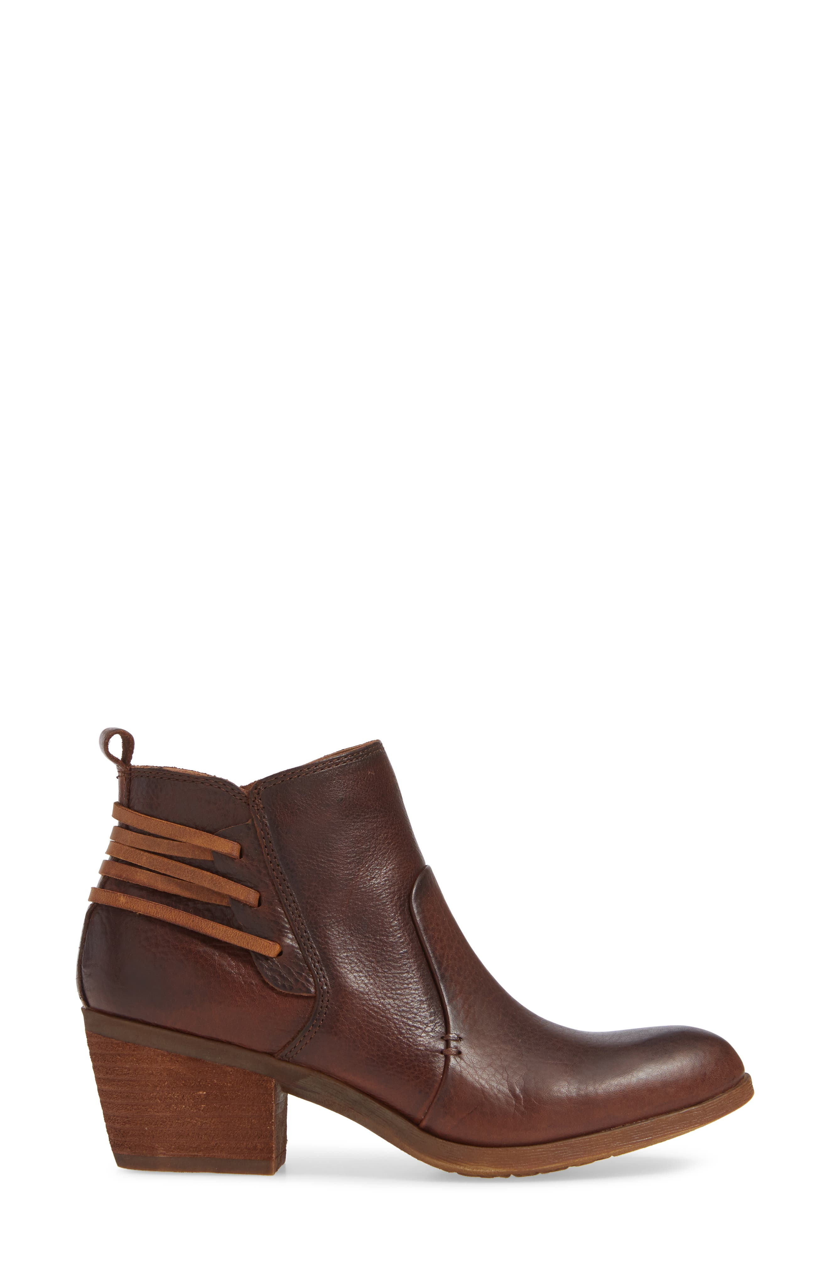 Kinsley Bootie,                             Alternate thumbnail 3, color,                             WHISKEY/ ALMOND
