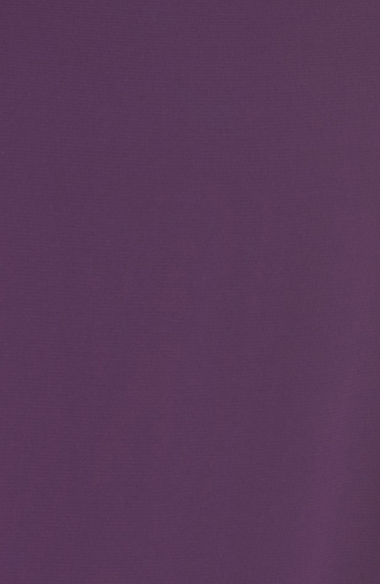 Chiffon Overlay Sheath Dress,                             Alternate thumbnail 6, color,                             PLUM