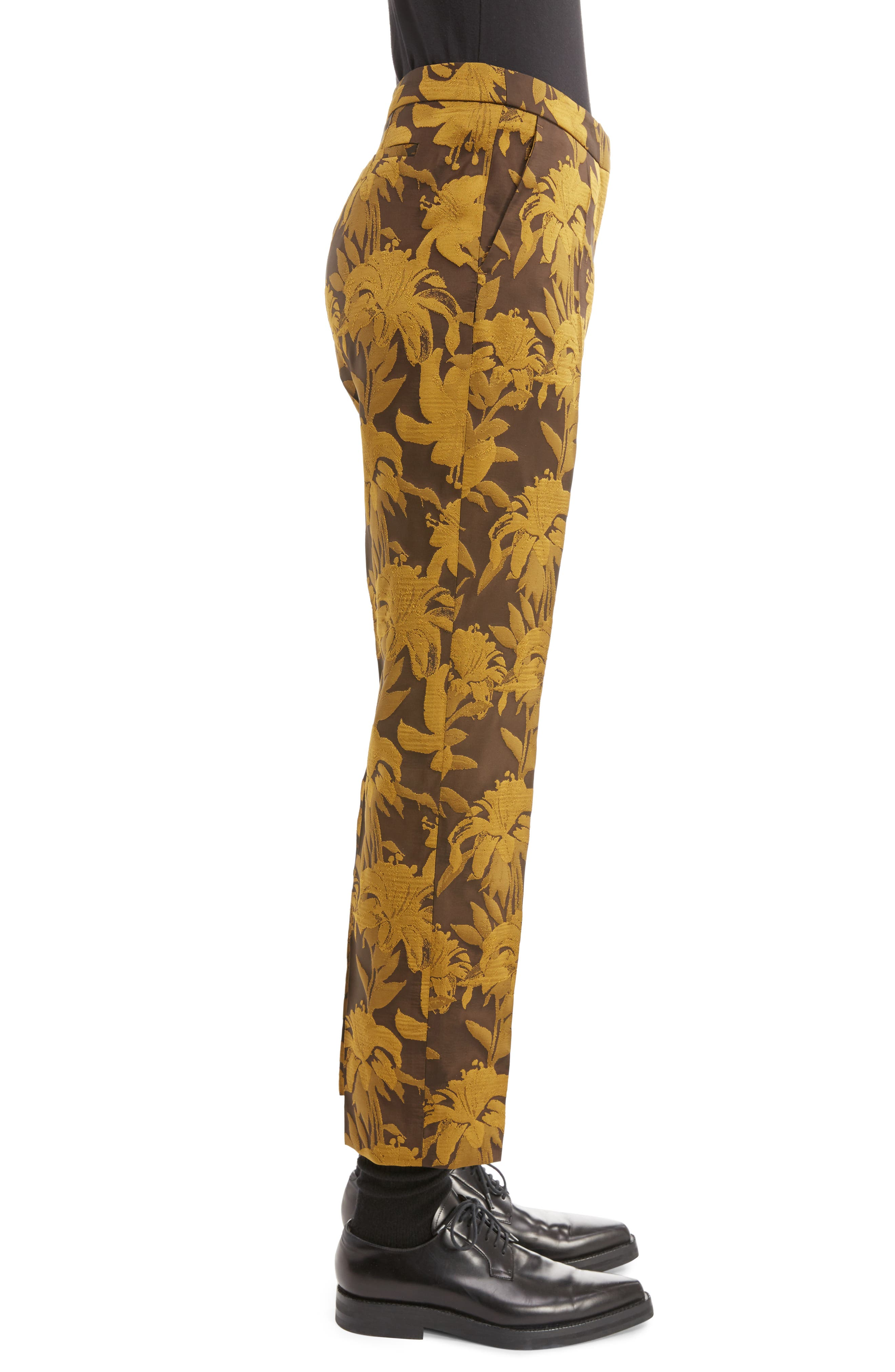 Damask Ankle Trousers,                             Alternate thumbnail 3, color,                             700