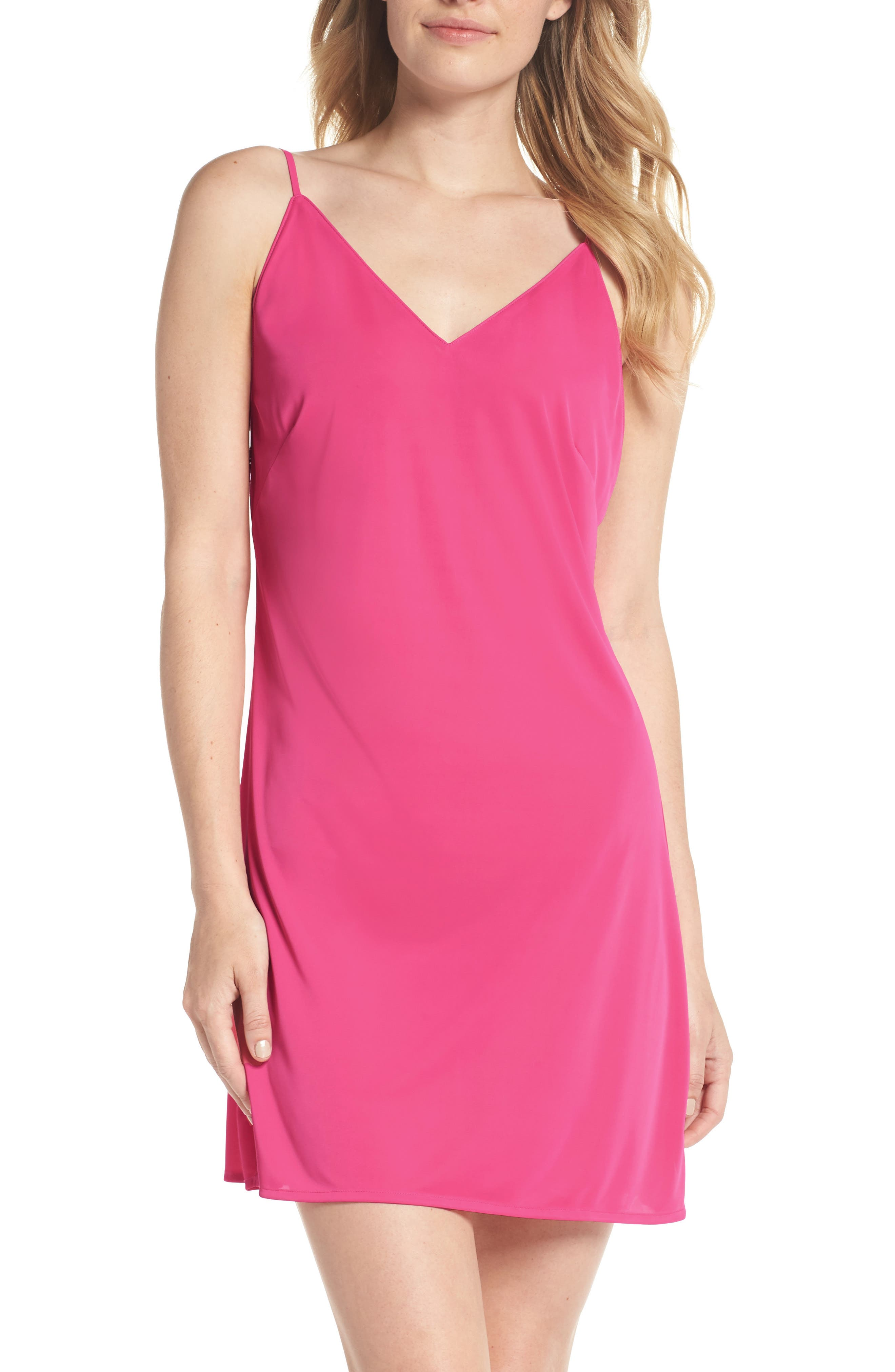 Enchant Chemise,                             Main thumbnail 1, color,                             PIN HIBISCUS PINK