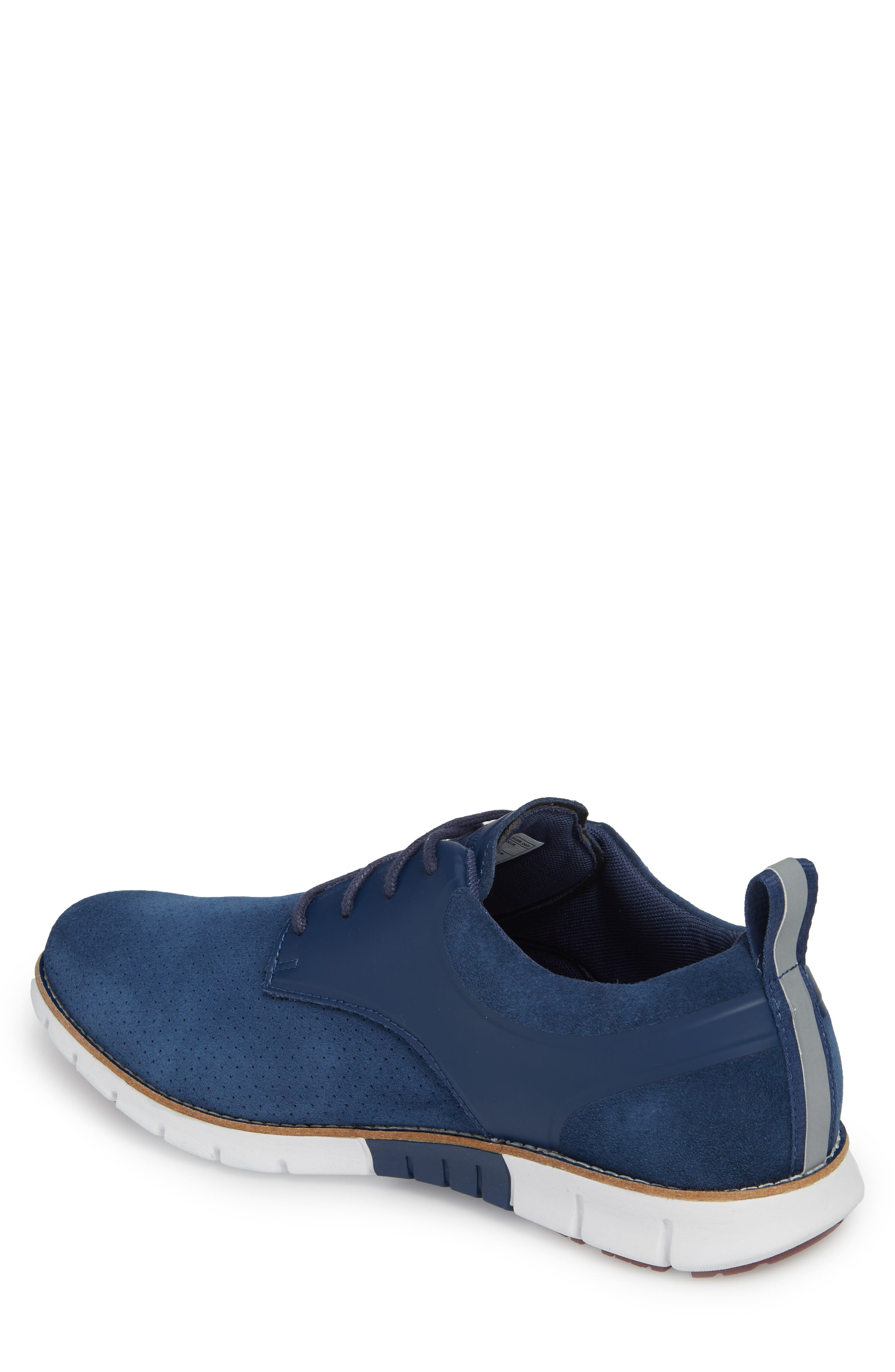 Ridley Perforated Low Top Sneaker,                             Alternate thumbnail 2, color,                             NAVY LEATHER