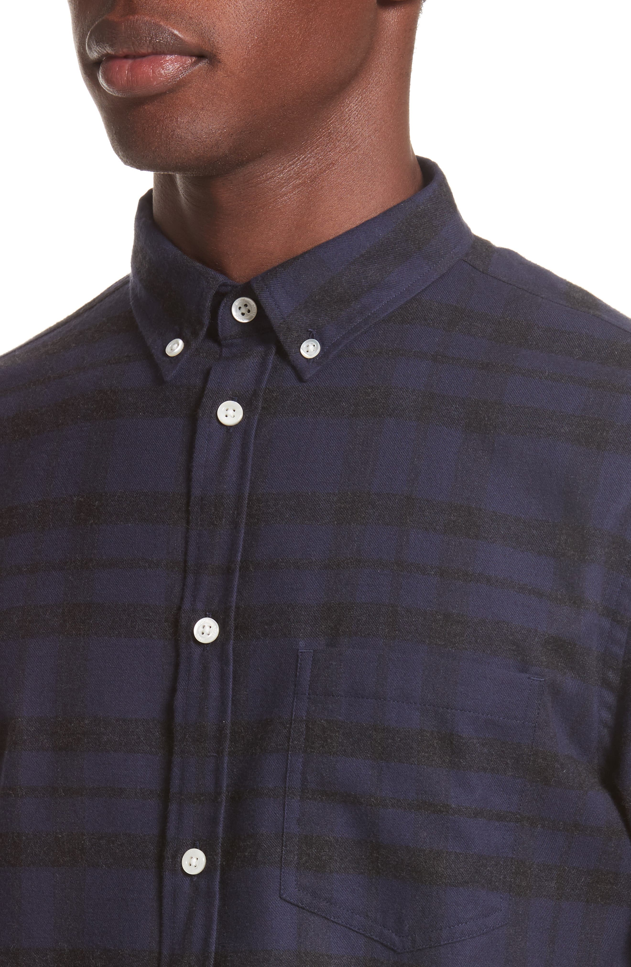 Anton Check Shirt,                             Alternate thumbnail 5, color,                             010