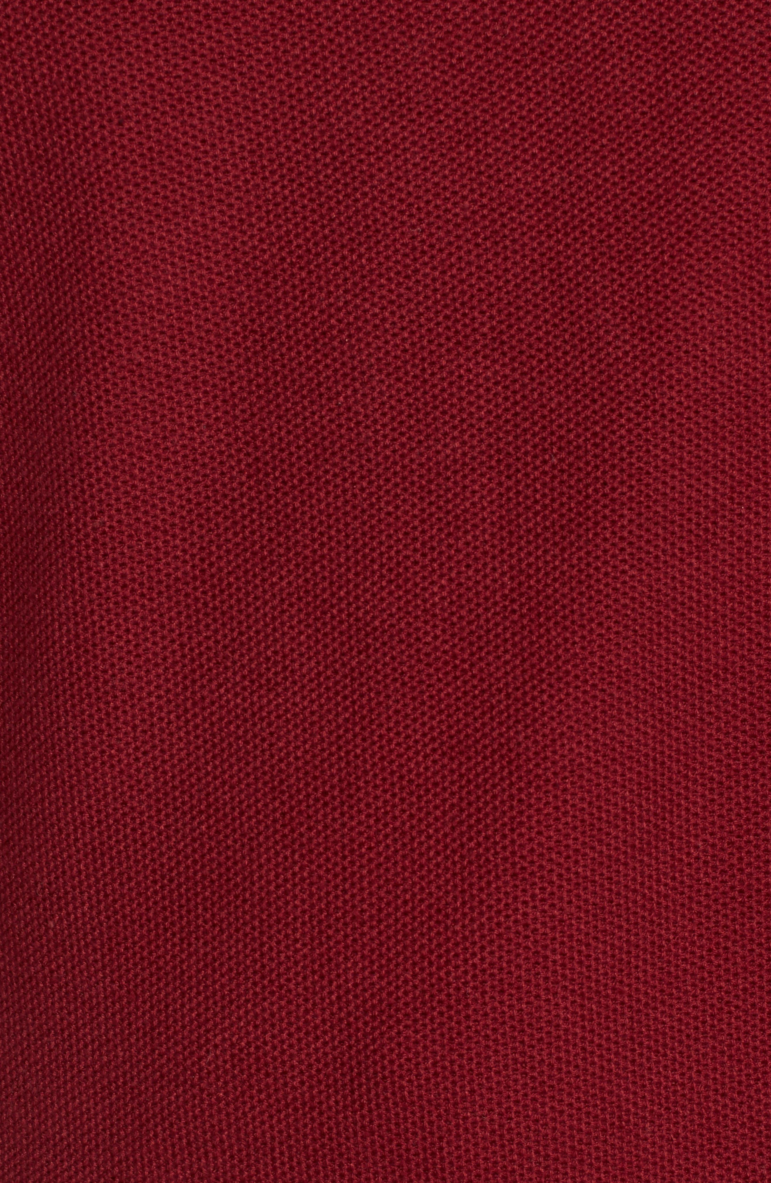 Prien Tipped Quarter Zip Sweater,                             Alternate thumbnail 5, color,                             600