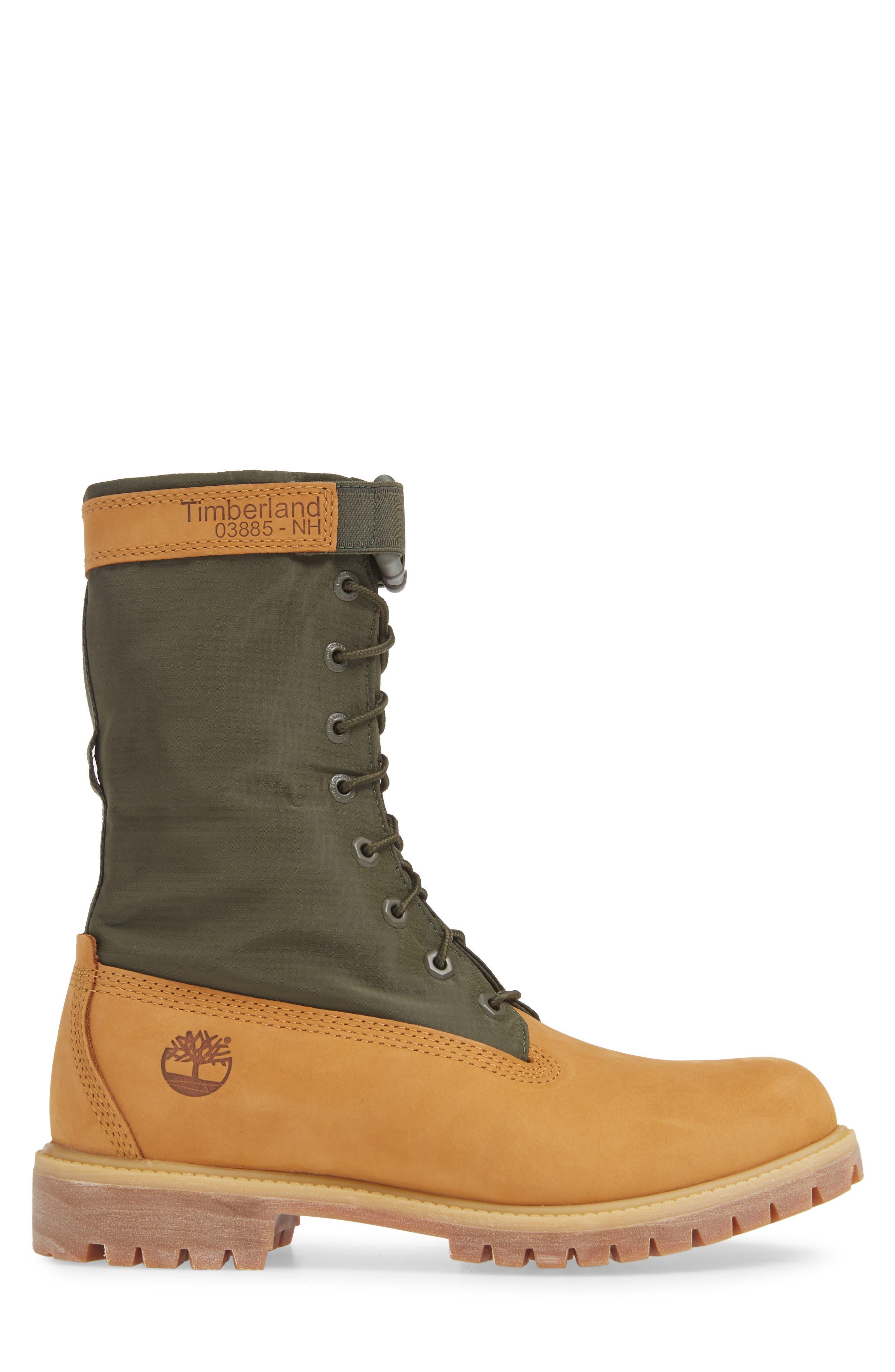 TIMBERLAND,                             Premium Gaiter Plain Toe Boot,                             Alternate thumbnail 3, color,                             231