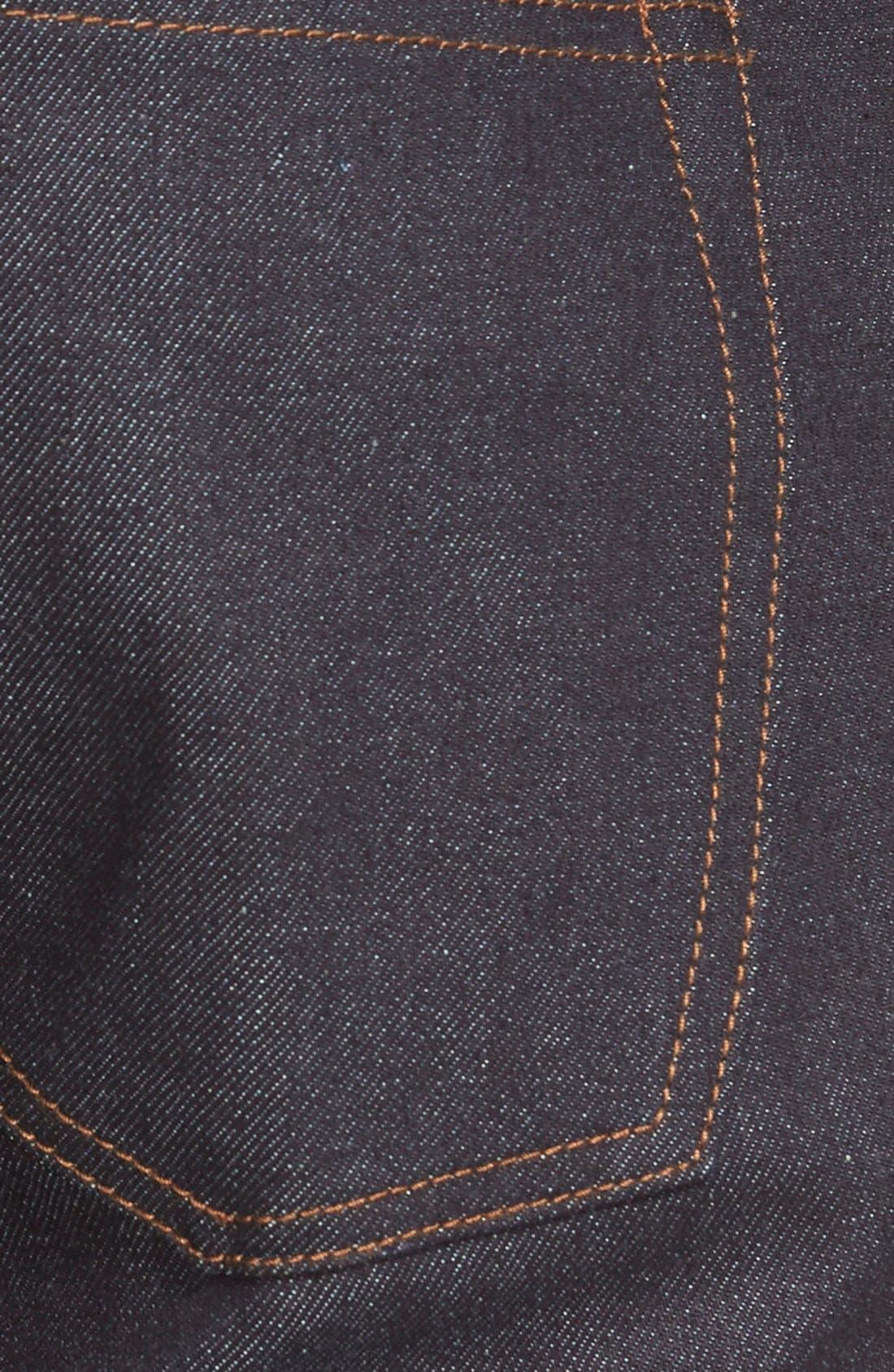 'UB122' Skinny Fit Raw Selvedge Jeans,                             Alternate thumbnail 4, color,                             401