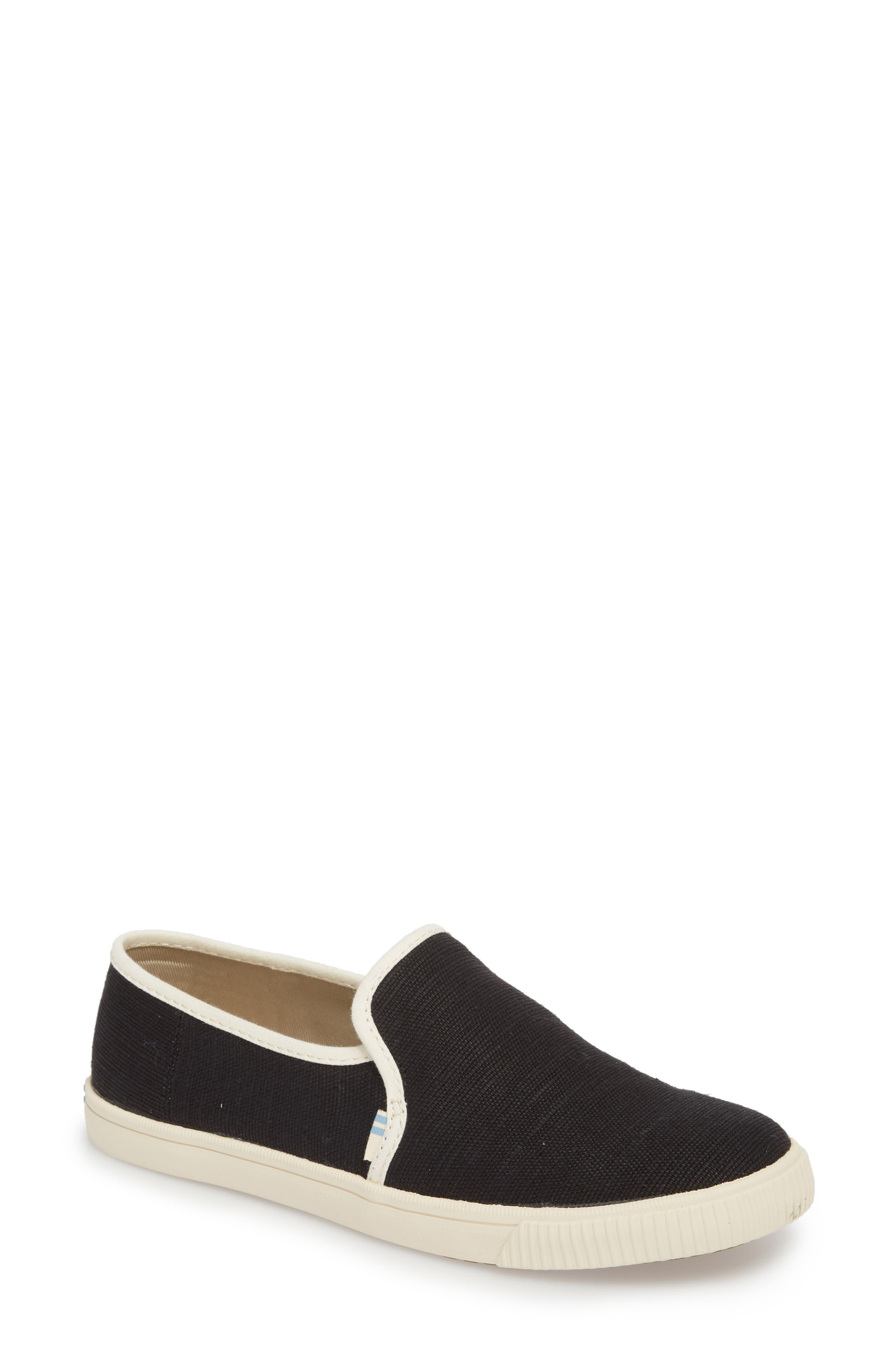 Clemente Slip-On, Main, color, BLACK HERITAGE CANVAS