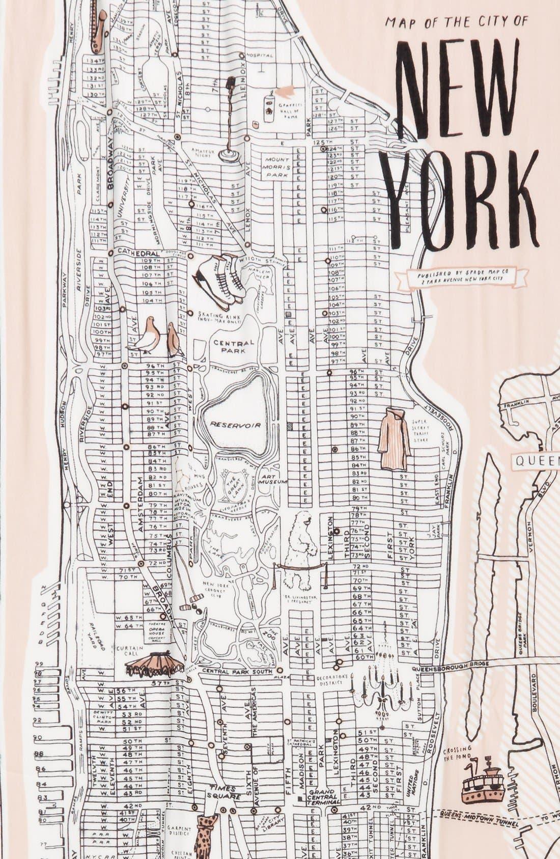 new york map print scarf,                             Alternate thumbnail 2, color,                             250