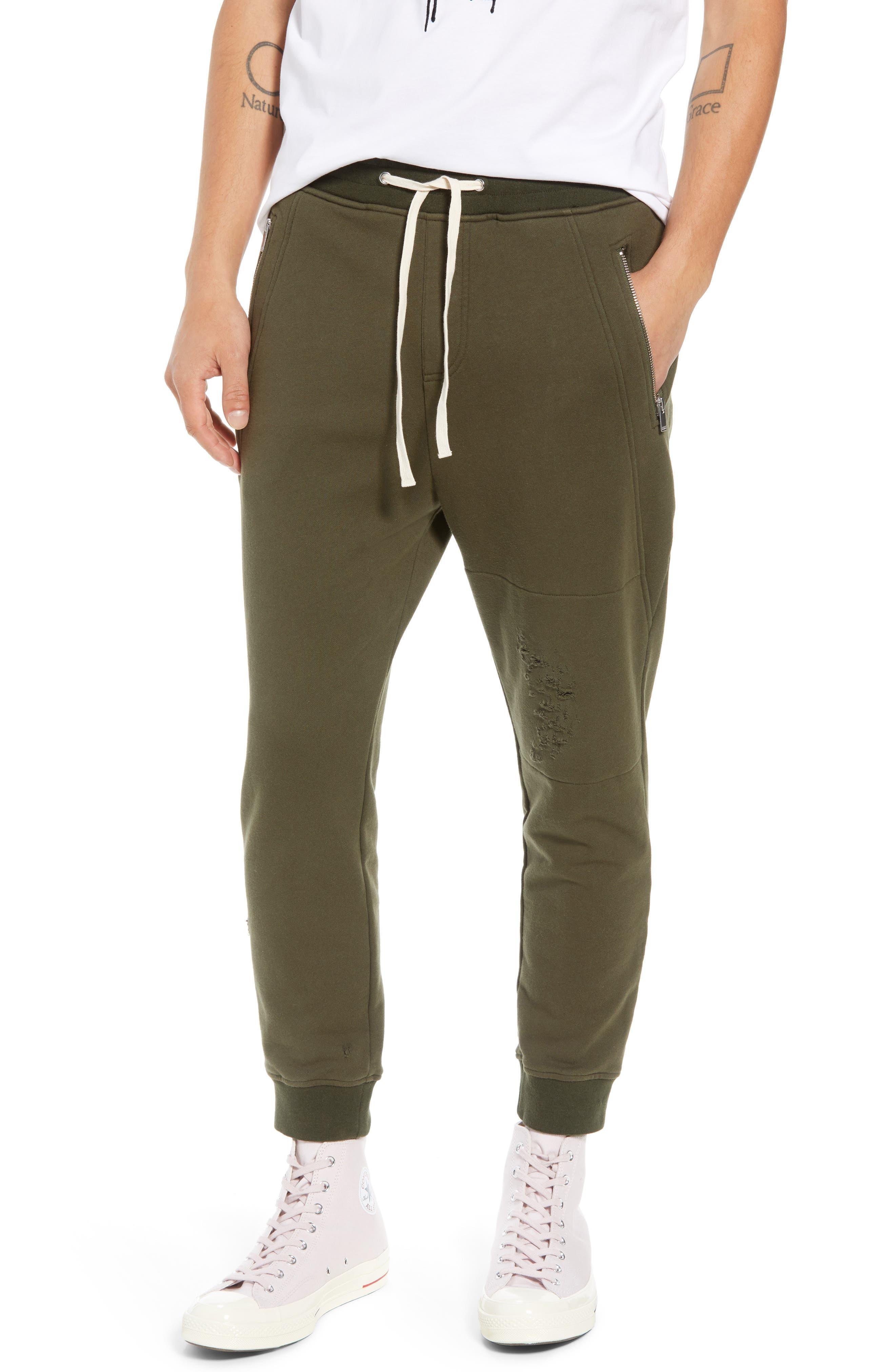 Regular Fit Sweatpants,                         Main,                         color, KHAKI
