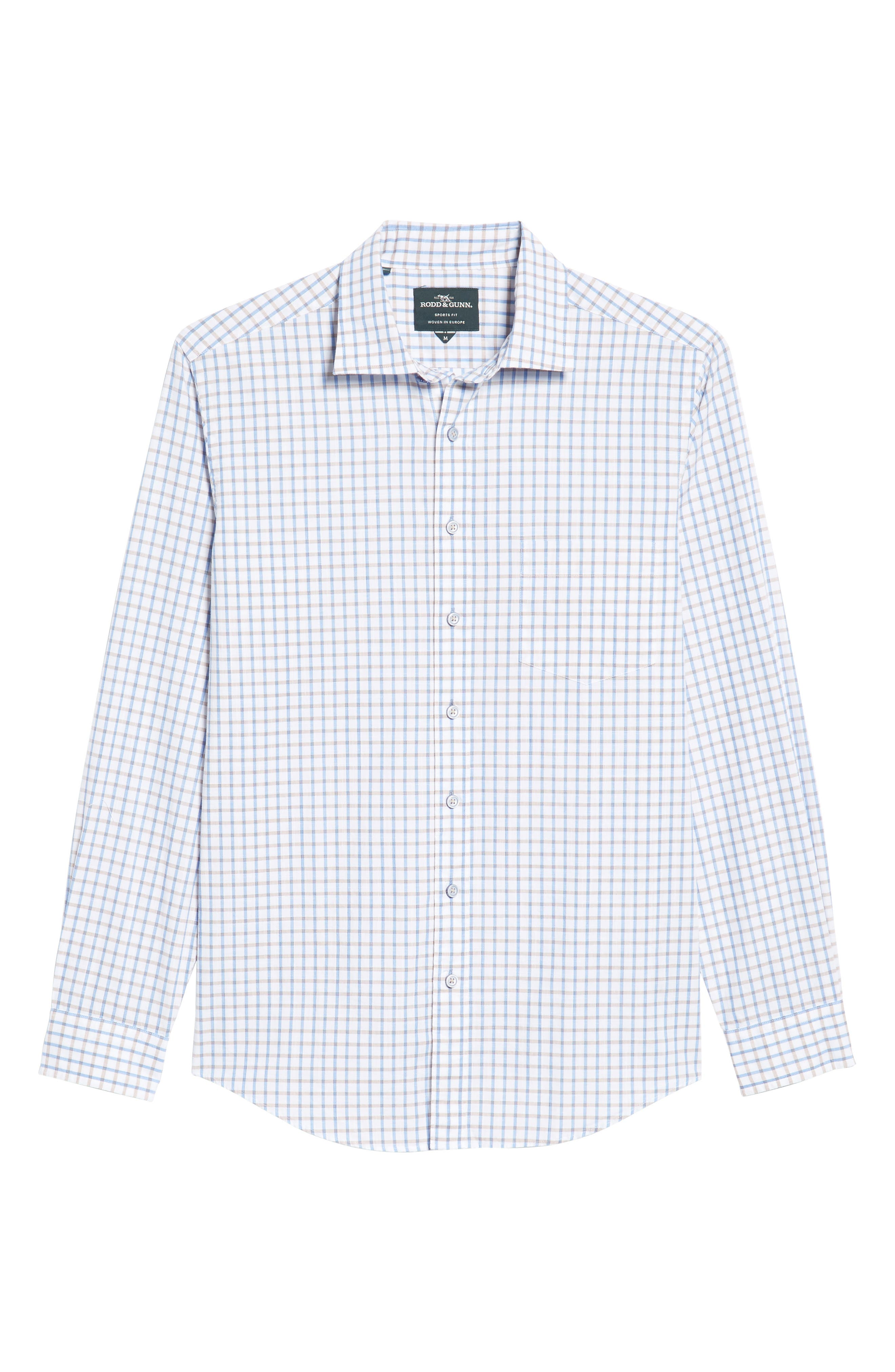 Mount Edward Check Sport Shirt,                             Alternate thumbnail 6, color,                             111