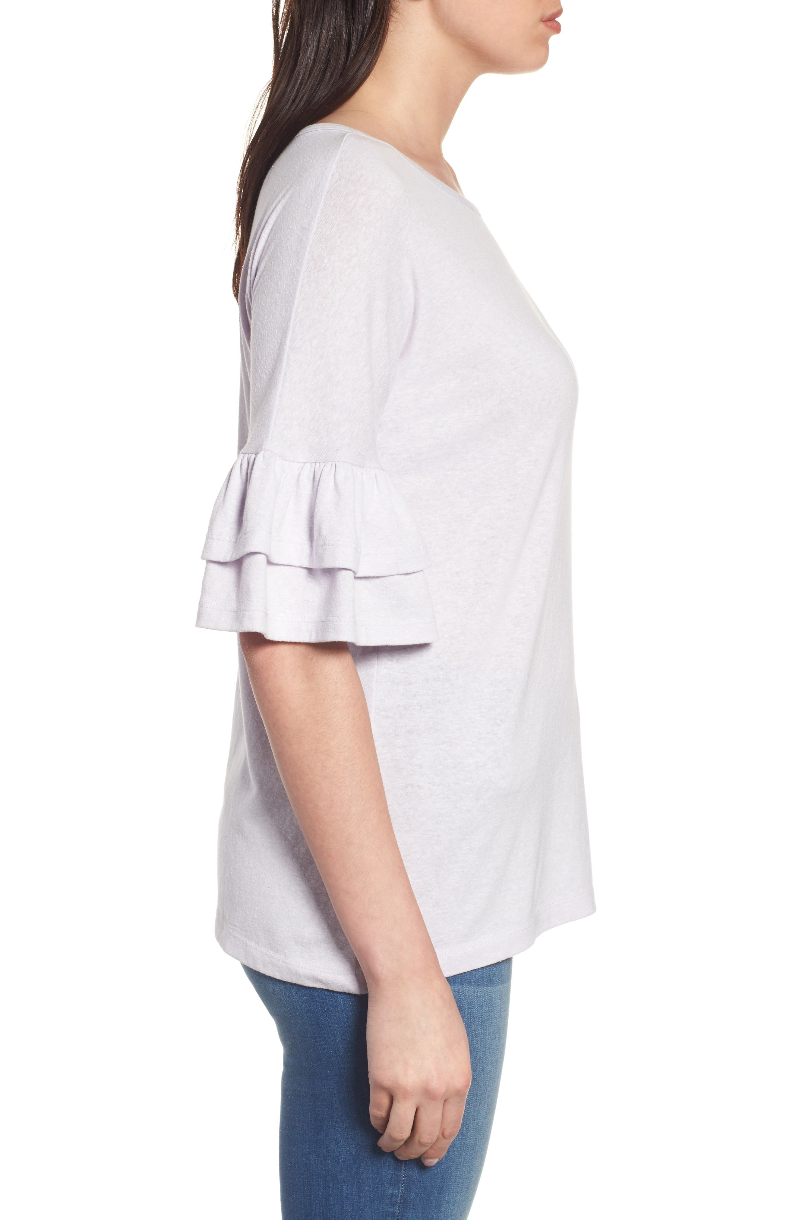Tiered Bell Sleeve Tee,                             Alternate thumbnail 23, color,