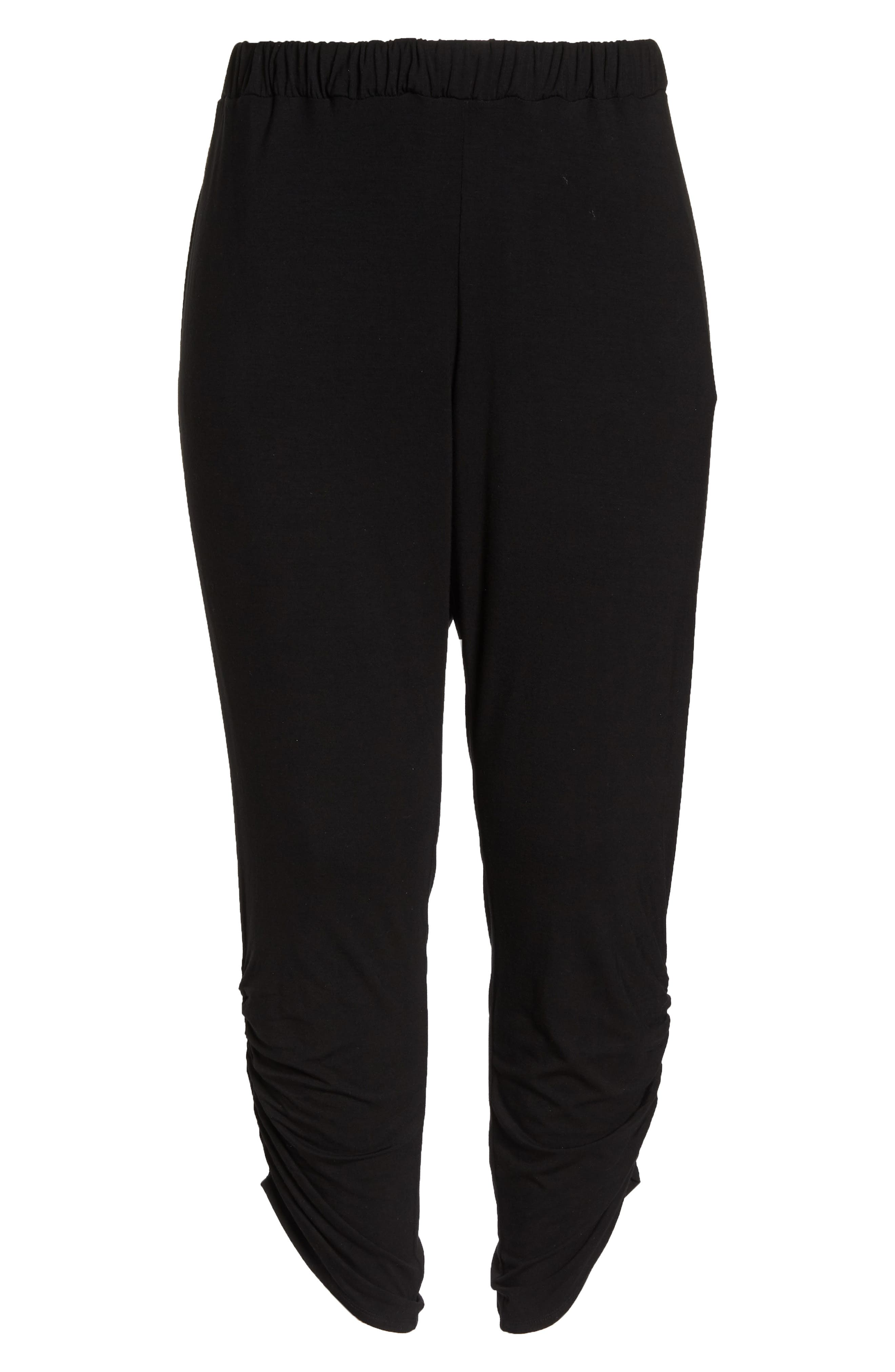 Cinch Hem Harem Pants,                             Alternate thumbnail 7, color,                             001