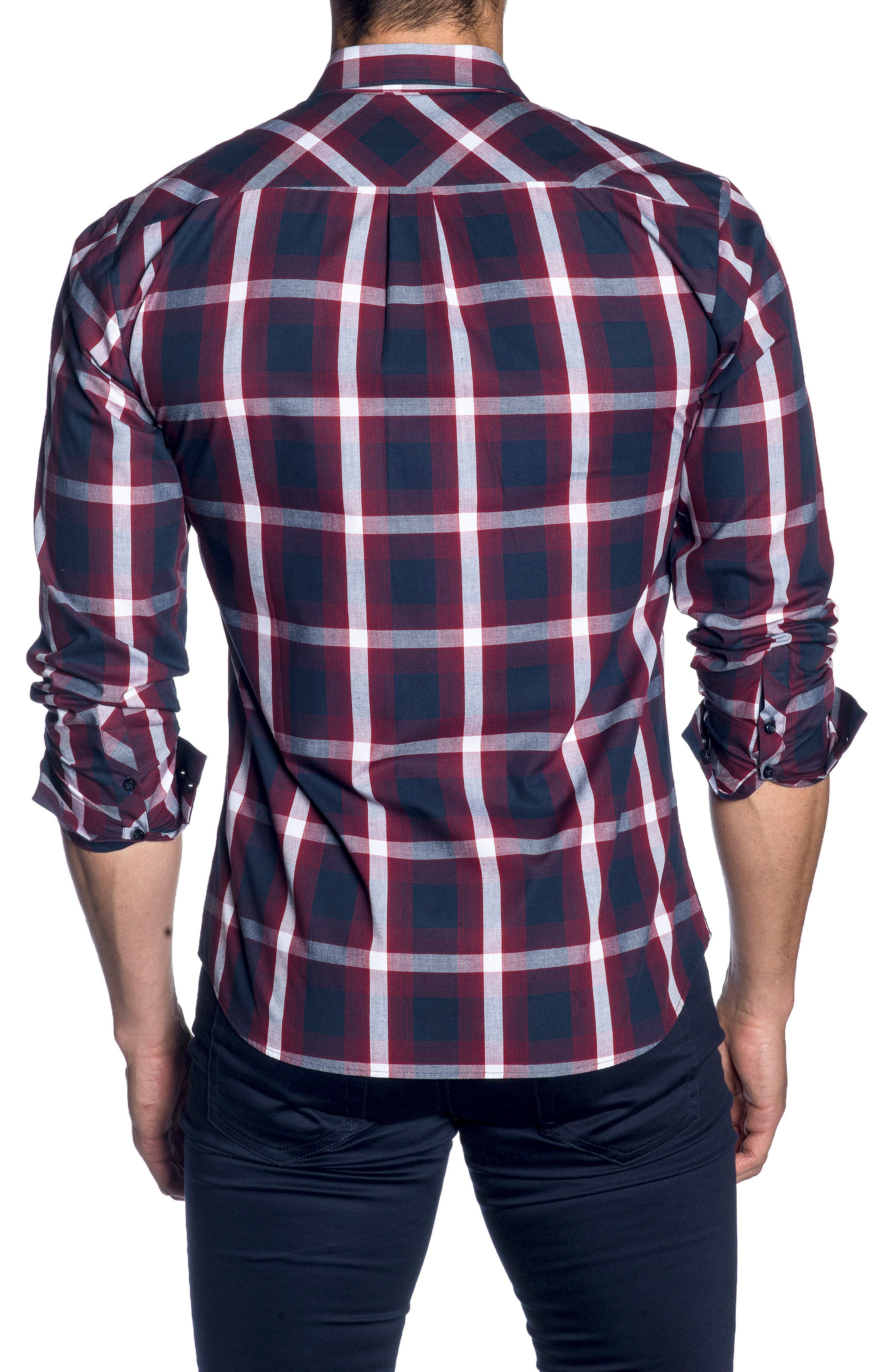 Trim Fit Sport Shirt,                             Alternate thumbnail 2, color,                             400