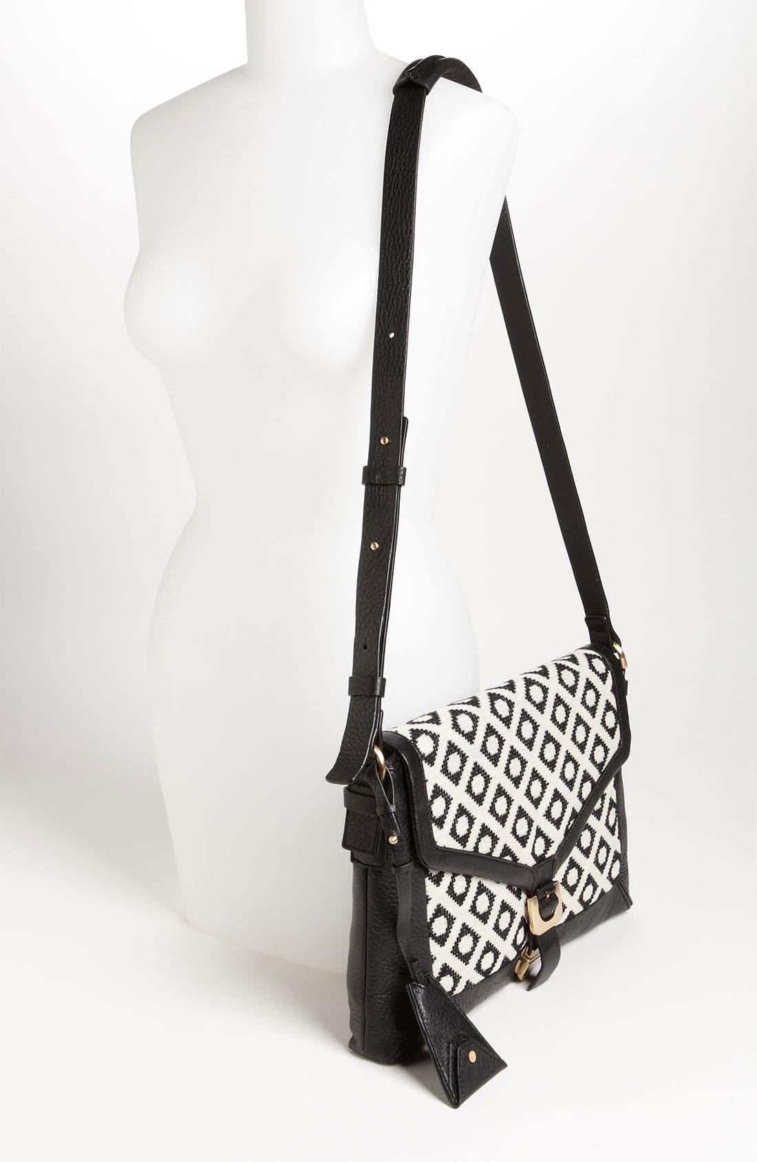 'Drew Connect - Dia Jacquard' Shoulder Bag,                             Alternate thumbnail 4, color,                             100