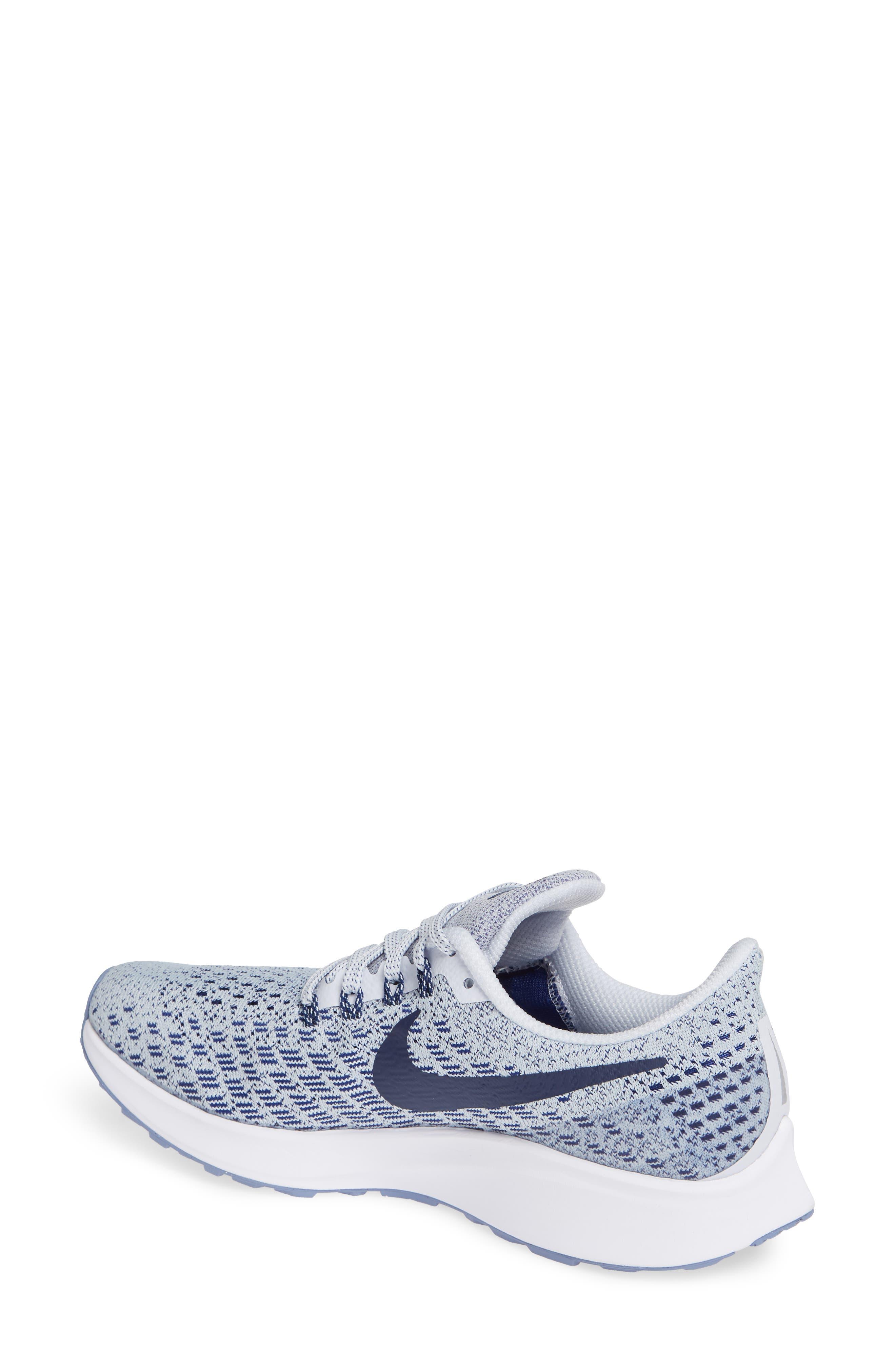 Air Zoom Pegasus 35 Running Shoe,                             Alternate thumbnail 2, color,                             GREY/ BLUE/ WHITE/ ALUMINUM