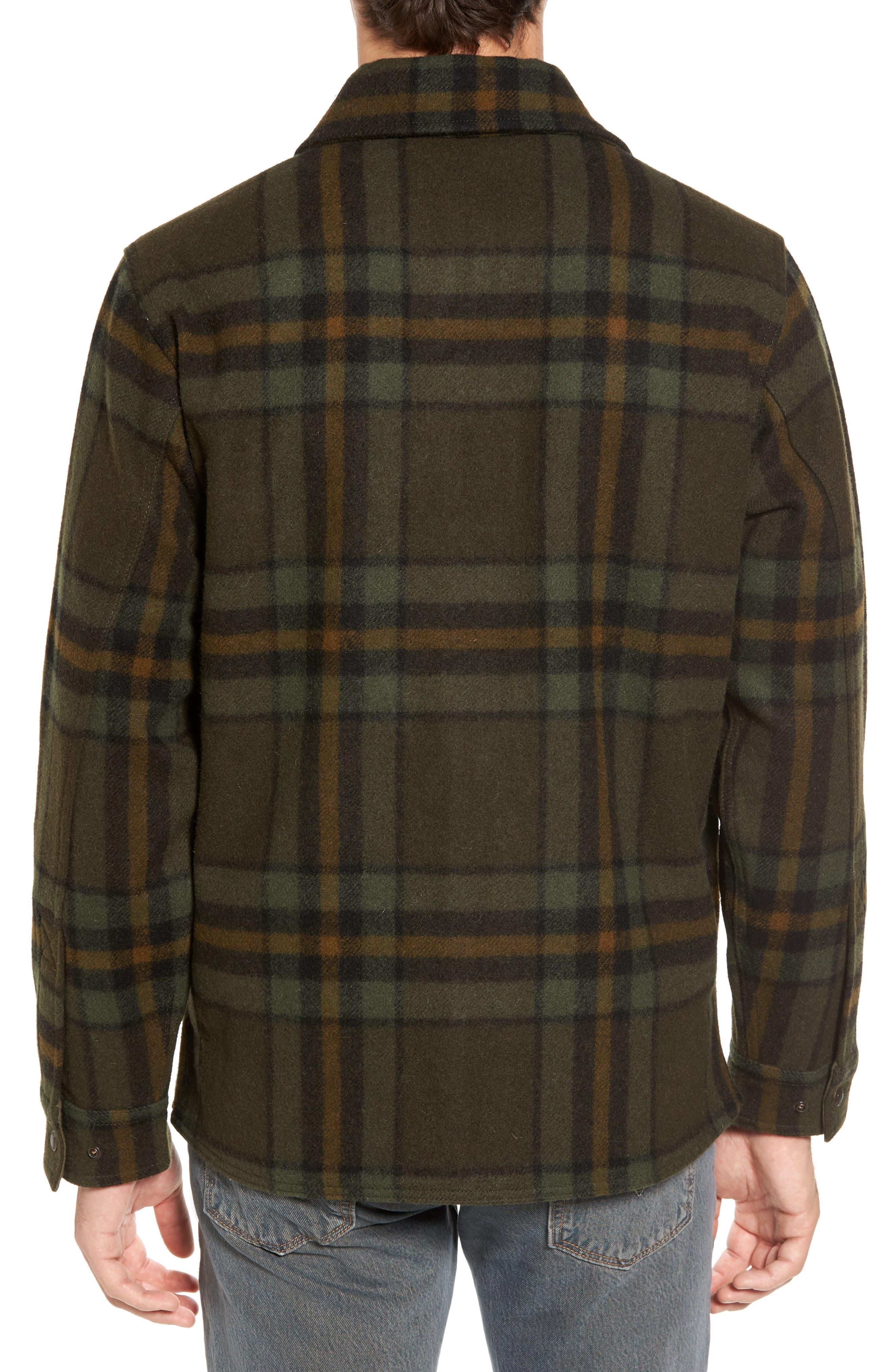 'Macinaw' Plaid Wool Flannel Shirt Jacket,                             Alternate thumbnail 3, color,