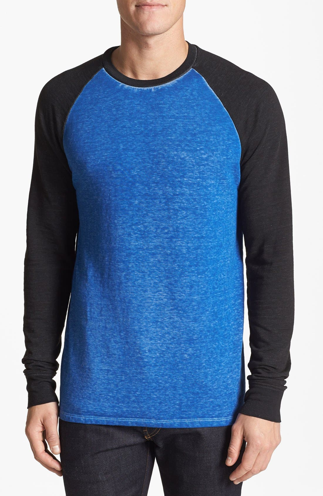Washed Raglan Sleeve Sweatshirt,                             Main thumbnail 3, color,