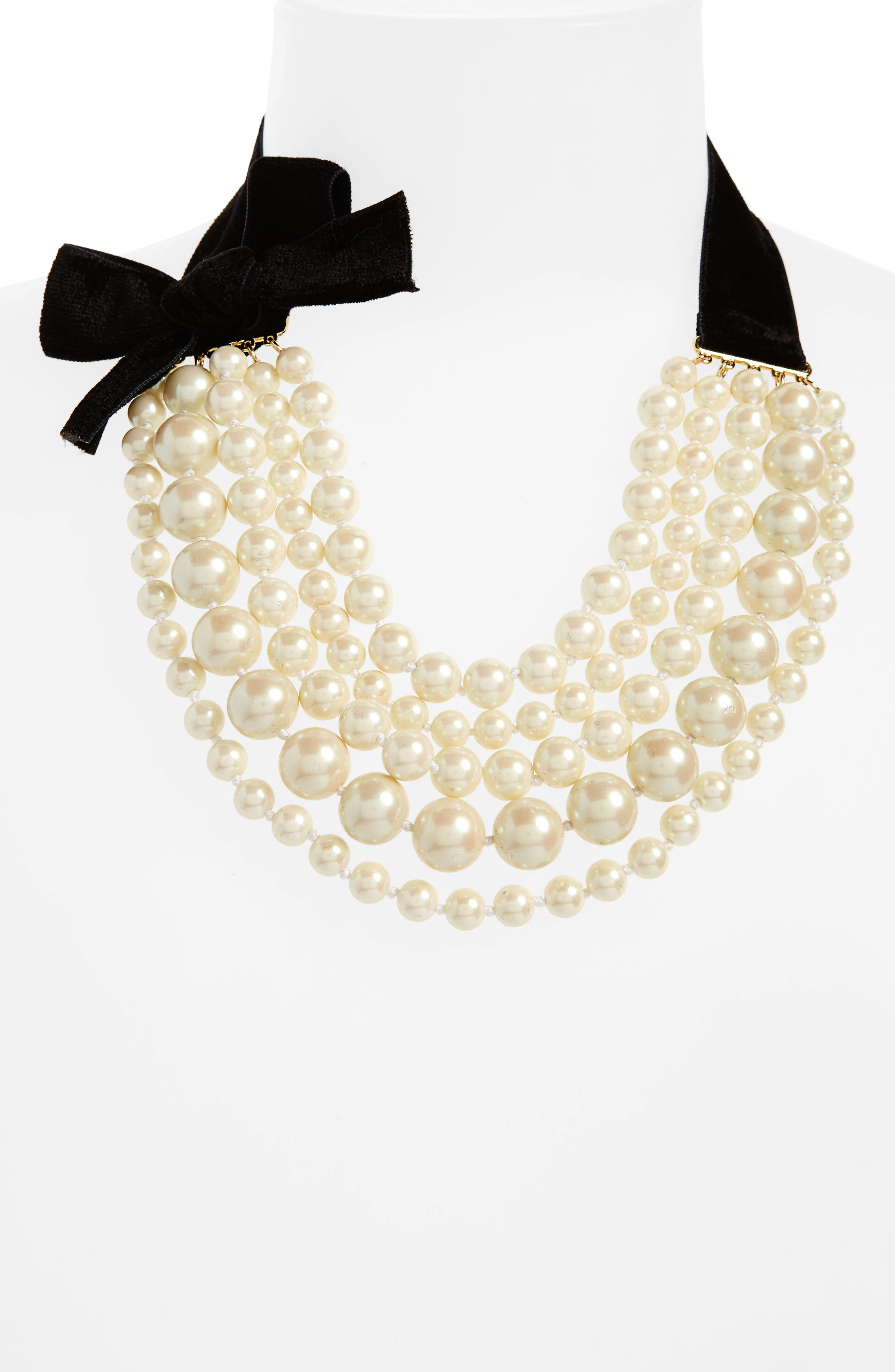 girls in pearls frontal necklace,                             Alternate thumbnail 2, color,                             900