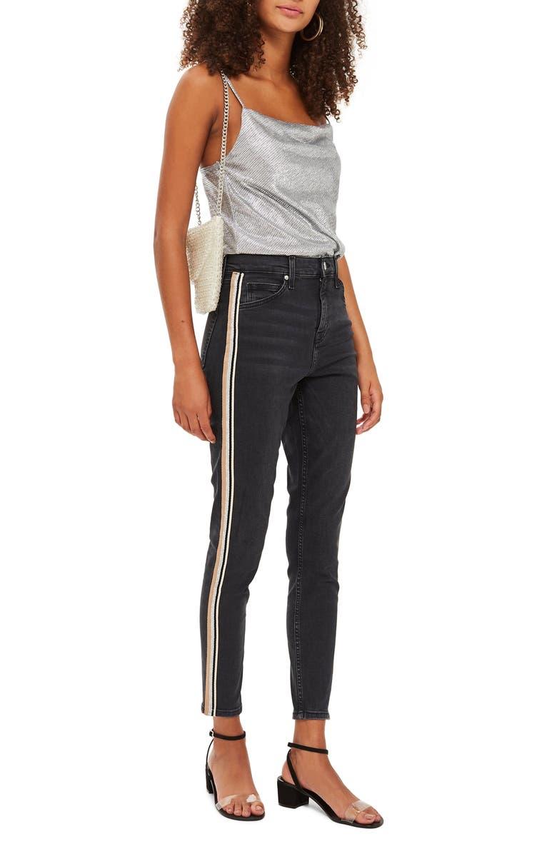 MOTO Stripe Skinny Jeans