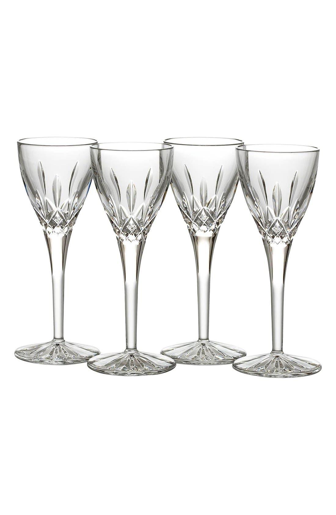 'Lismore' Lead Crystal Cordial Glasses,                             Main thumbnail 1, color,                             100
