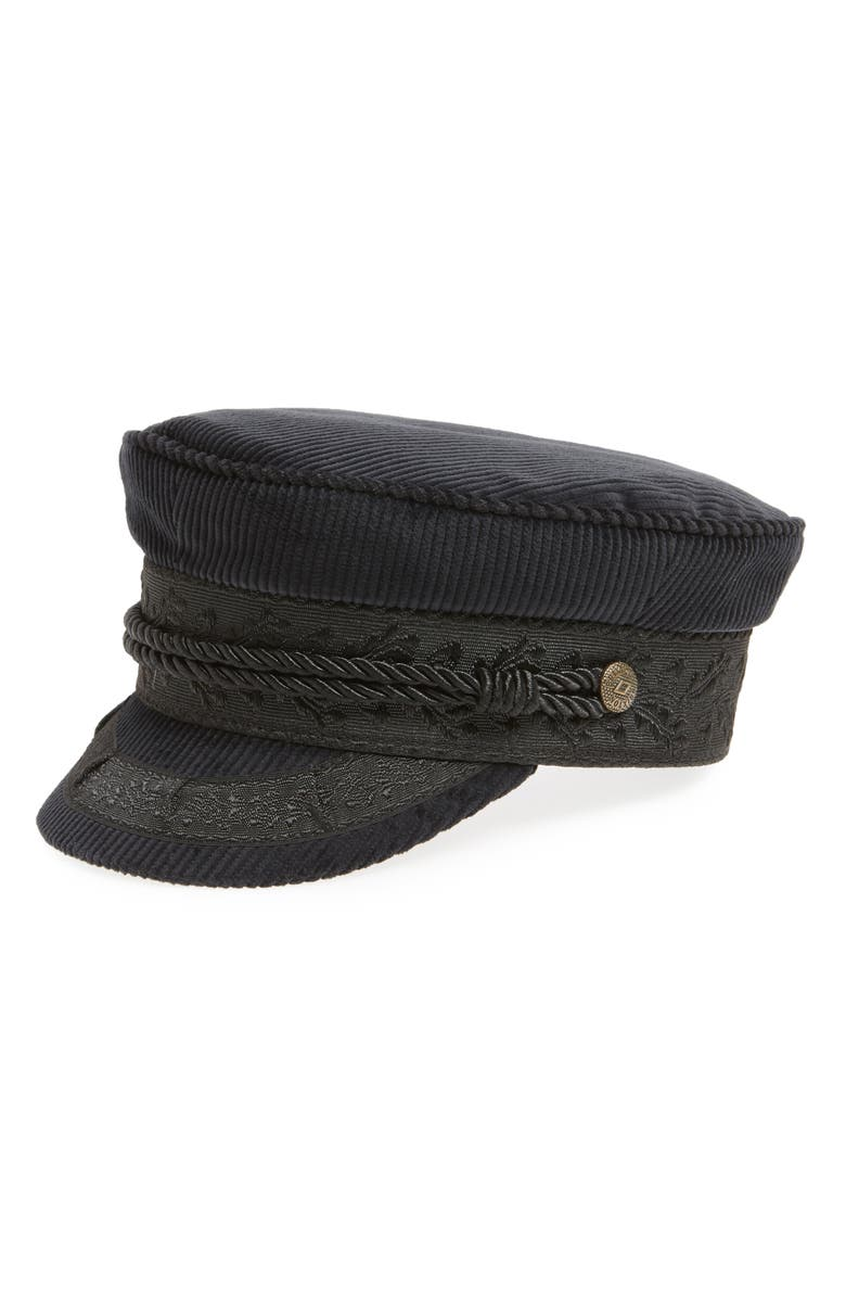 Brixton ALBANY CORDUROY FISHERMAN CAP - BLACK