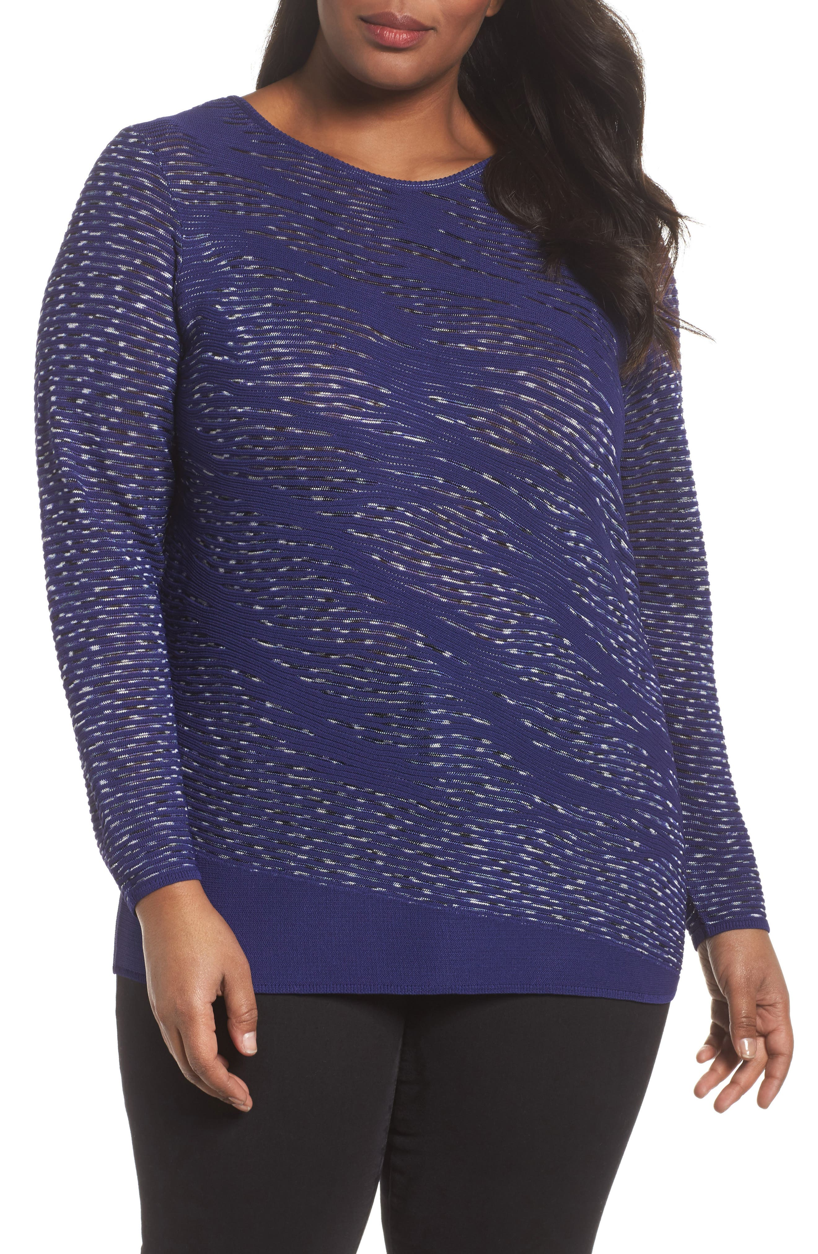 This Is Living Knit Top,                             Main thumbnail 1, color,                             ELECTRIC BLUE