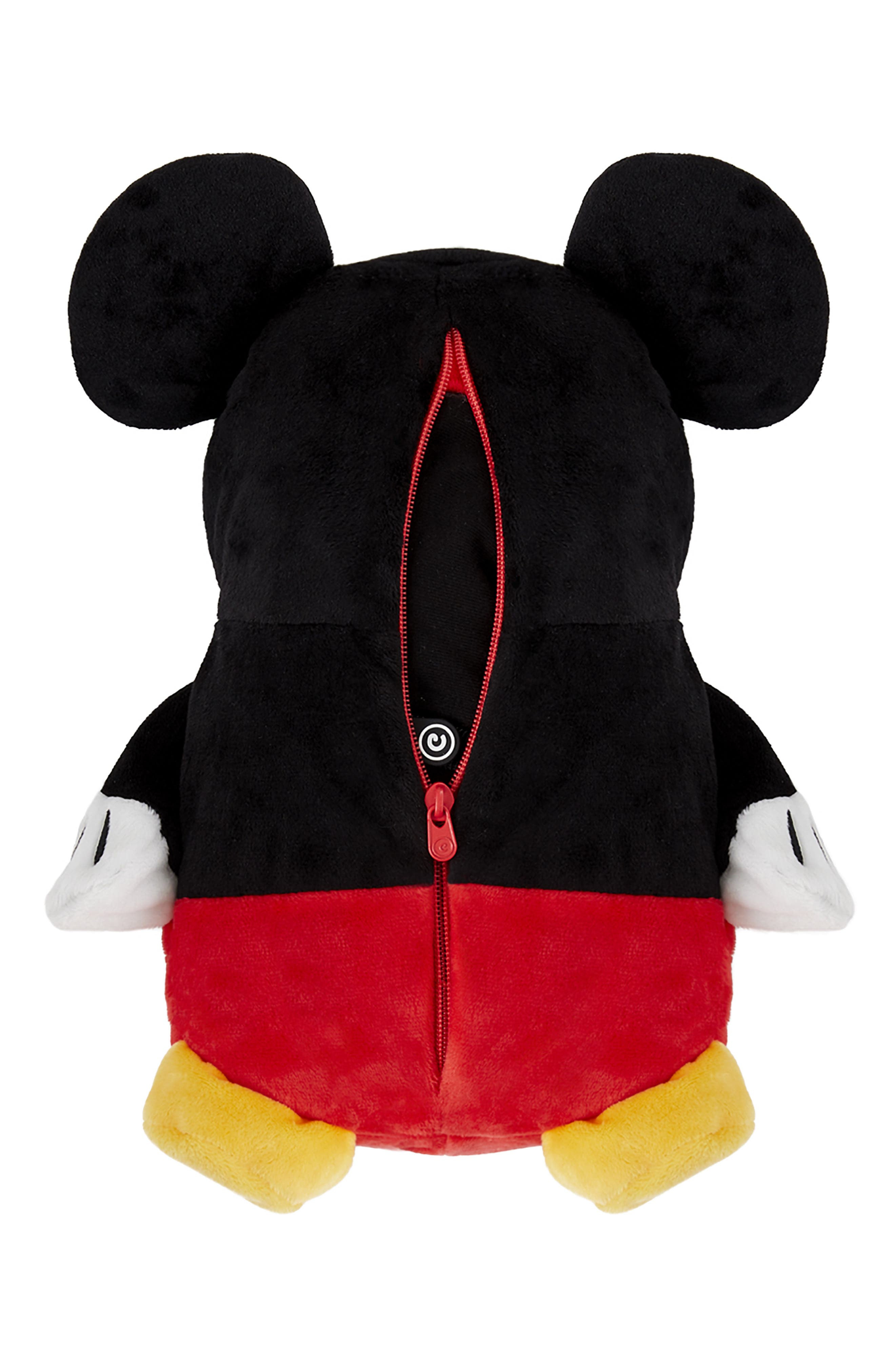 Mickey Mouse<sup>®</sup> 2-in-1 Stuffed Animal Hoodie,                             Alternate thumbnail 5, color,                             BLACK / RED MIX