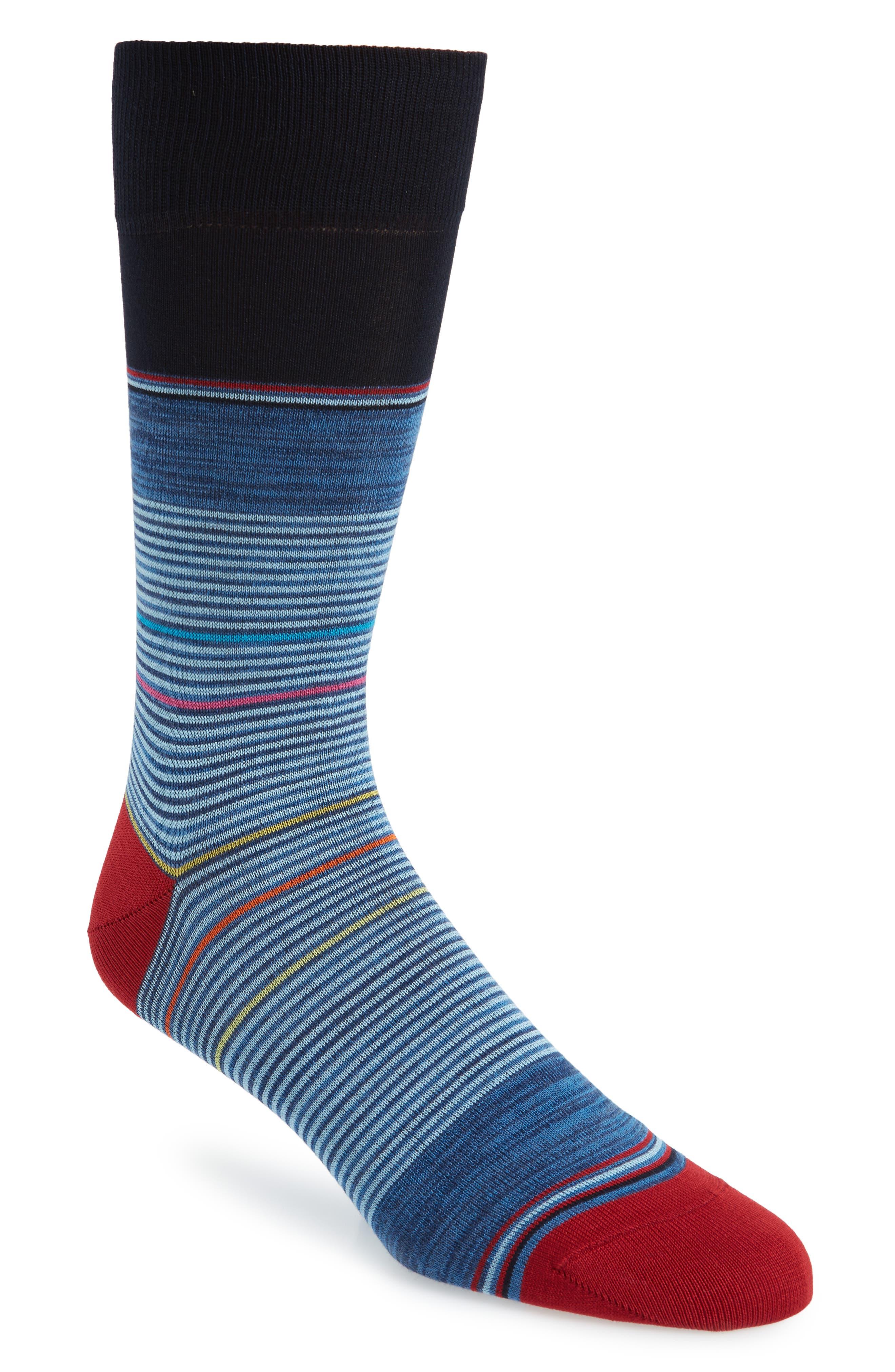 Stripe Socks,                             Main thumbnail 1, color,                             DENIM