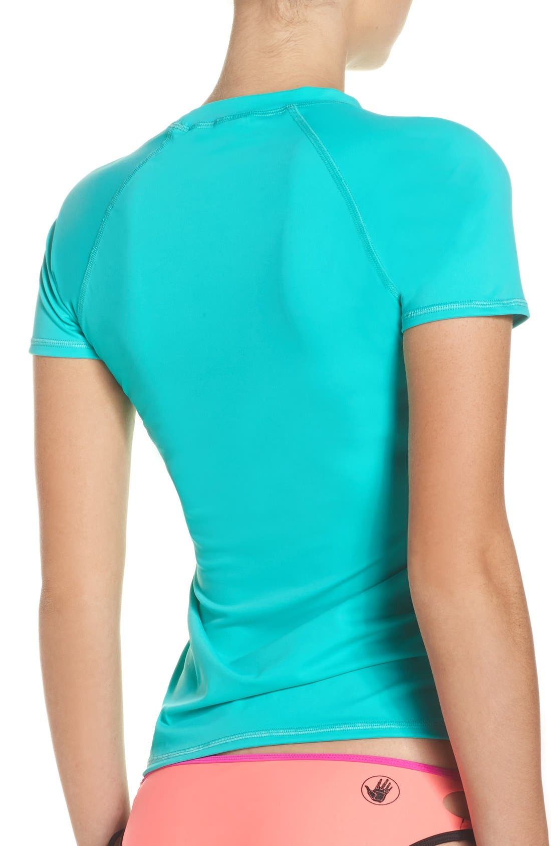 'Smoothies in Motion' Short Sleeve Rashguard,                             Alternate thumbnail 34, color,