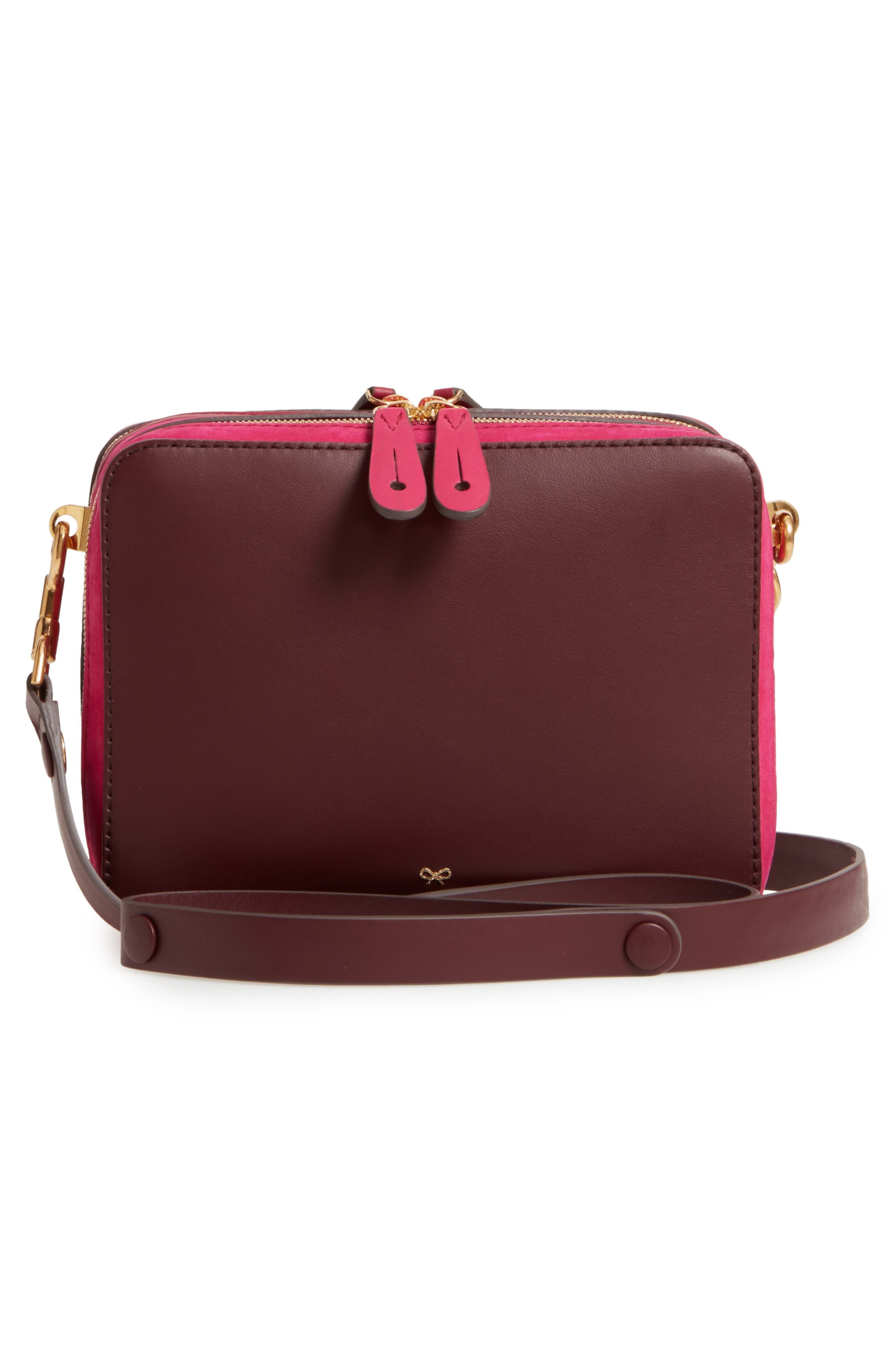 The Stack Leather Crossbody Bag,                             Alternate thumbnail 6, color,